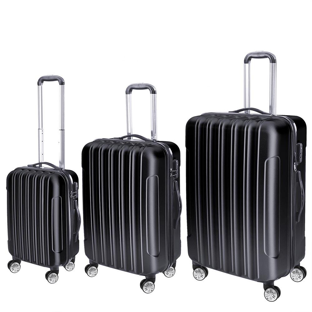 3-Piece-Travel-Luggage-Set-Fashion-Hardside-360-Rolling-Suitcase-20-034-24-034-28-034 thumbnail 3