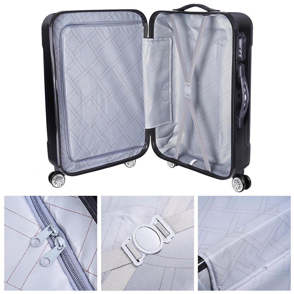 3-Piece-Travel-Luggage-Set-Fashion-Hardside-360-Rolling-Suitcase-20-034-24-034-28-034 thumbnail 7