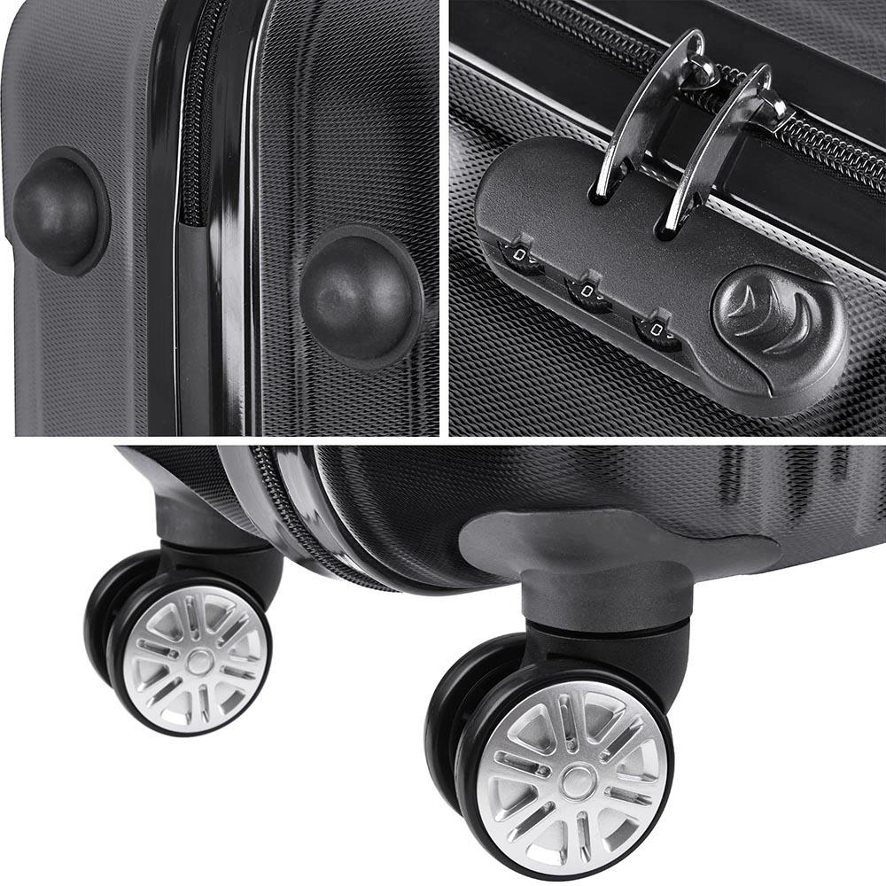 3-Piece-Travel-Luggage-Set-Fashion-Hardside-360-Rolling-Suitcase-20-034-24-034-28-034 thumbnail 9