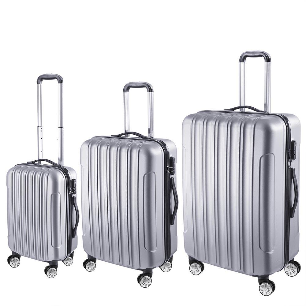 3-Piece-Travel-Luggage-Set-Fashion-Hardside-360-Rolling-Suitcase-20-034-24-034-28-034 thumbnail 20
