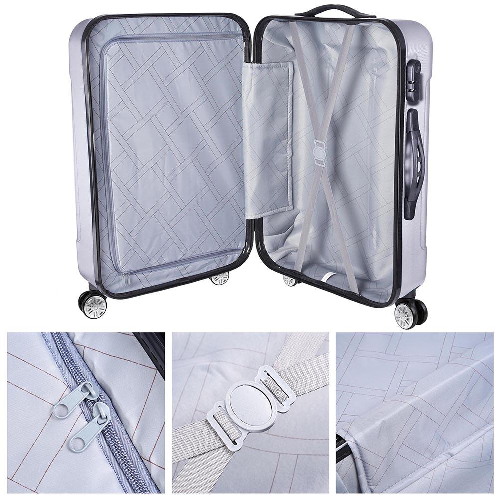 3-Piece-Travel-Luggage-Set-Fashion-Hardside-360-Rolling-Suitcase-20-034-24-034-28-034 thumbnail 25