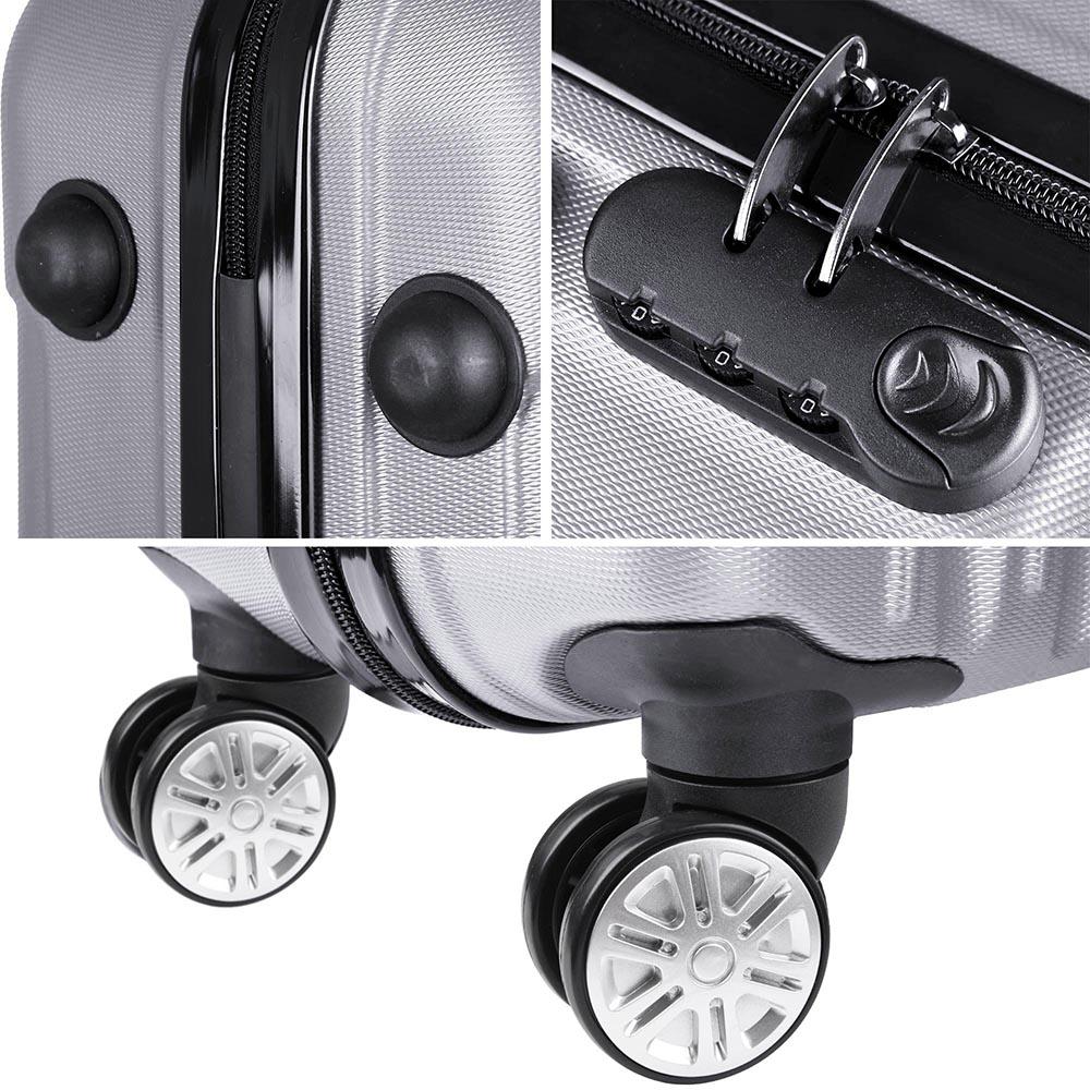 3-Piece-Travel-Luggage-Set-Fashion-Hardside-360-Rolling-Suitcase-20-034-24-034-28-034 thumbnail 27