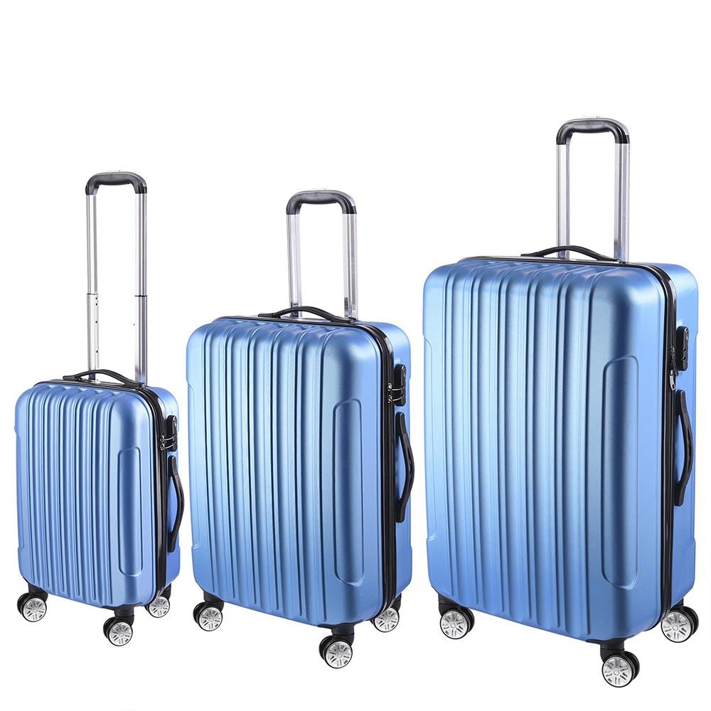 3-Piece-Travel-Luggage-Set-Fashion-Hardside-360-Rolling-Suitcase-20-034-24-034-28-034 thumbnail 11