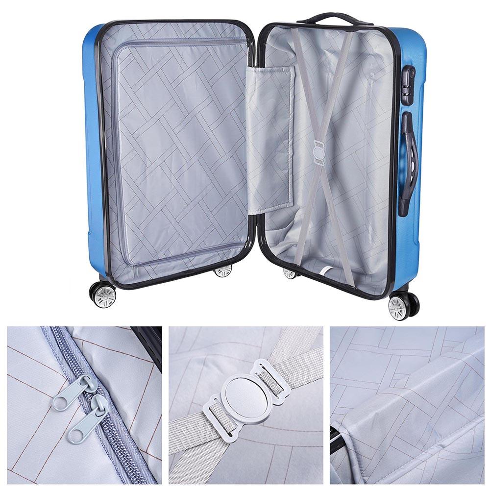 3-Piece-Travel-Luggage-Set-Fashion-Hardside-360-Rolling-Suitcase-20-034-24-034-28-034 thumbnail 16