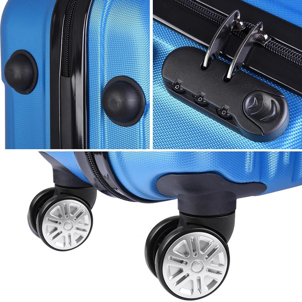 3-Piece-Travel-Luggage-Set-Fashion-Hardside-360-Rolling-Suitcase-20-034-24-034-28-034 thumbnail 18
