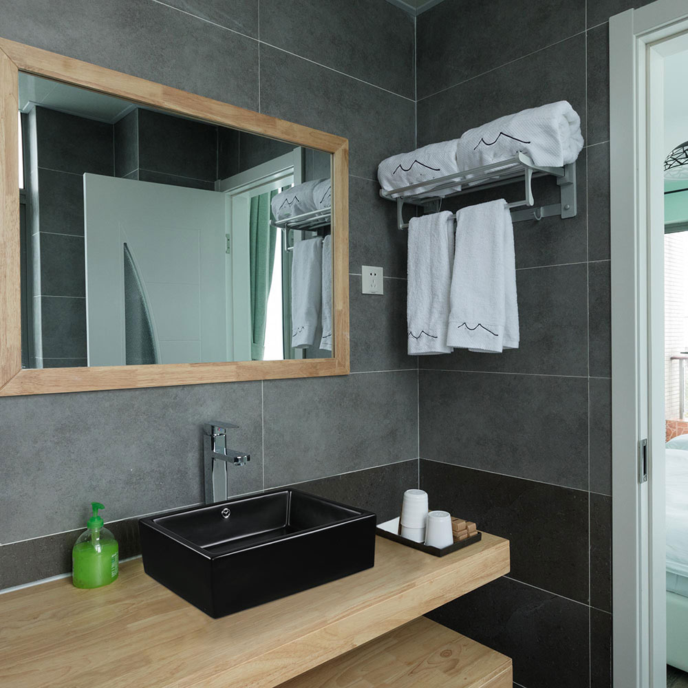 20-034-Rectangle-Bathroom-Vessel-Sink-Countertop-Porcelain-Basin-Pop-up-Drain-Kit thumbnail 9