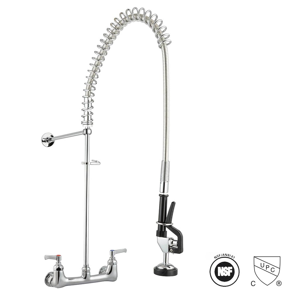 Details about Aquaterior® Commercial Pre-Rinse Kitchen Sink Faucet Pull  Down Sprayer Mixer Tap