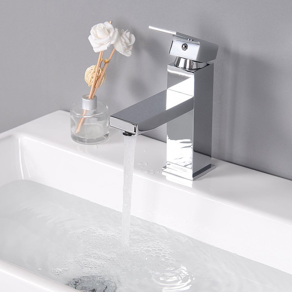 Single Hole Bathroom Faucet Cold & Hot Water for Under ...