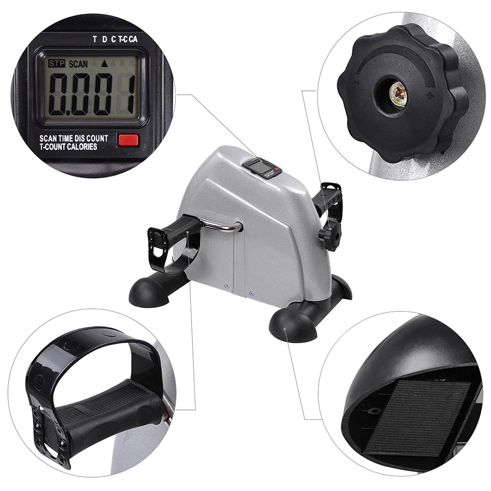 Mini Pedal Stepper Bike Leg Arm Cycling Fitness Exerciser Trainer LCD Display