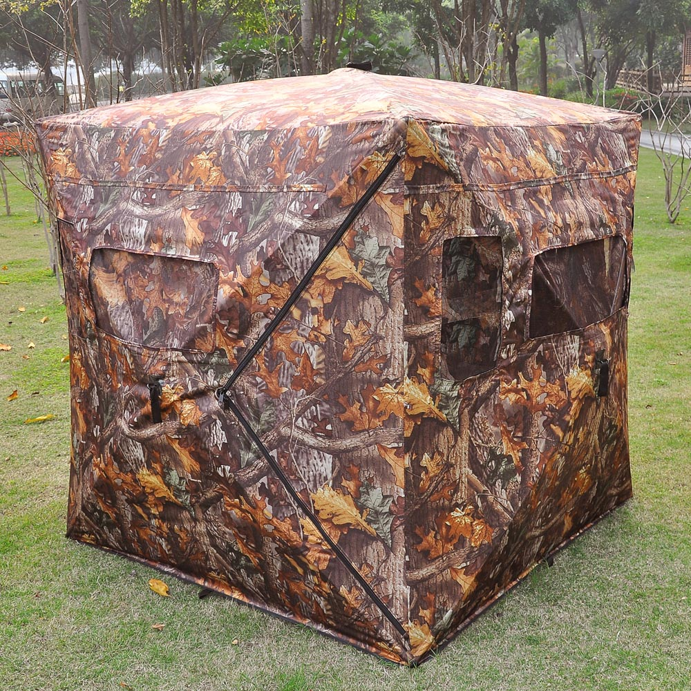Pop Up Hunting Ground Blind Real Tree Camo Tent Hunt