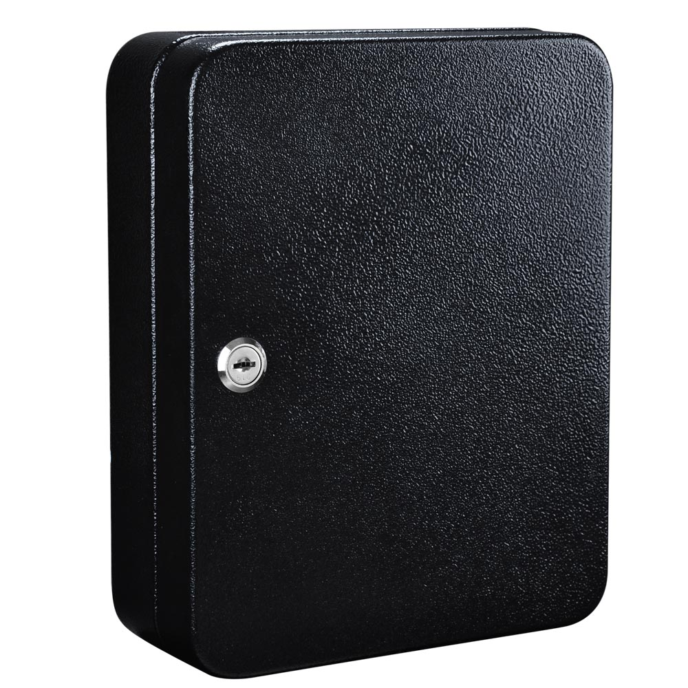 Solid Steel 48 Hook Key Safe Box W Tag Lock Storage Case