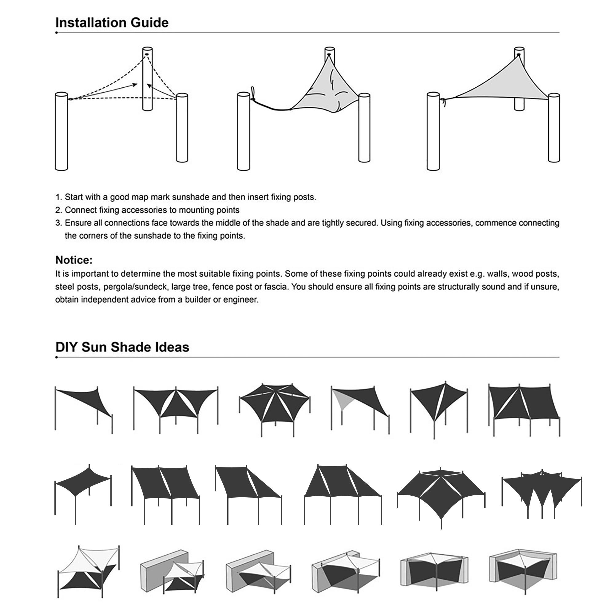 Sun Shade Sail 19x13ft Uv Block Rectangle Canopy Outdoor Patio Pool Bright Green Ebay