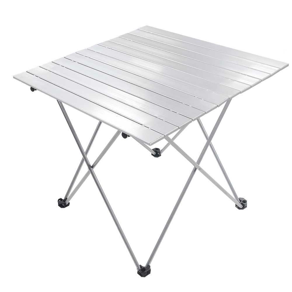 Details About Portable Folding Aluminum Roll Up Table Lightweight Outdoor  Camping Picnic + Bag