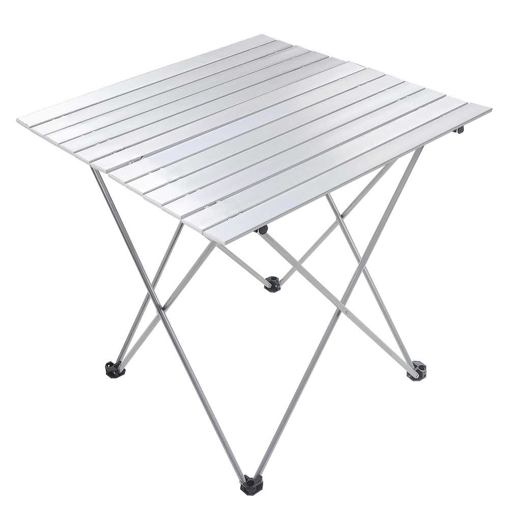 Portable Folding Aluminum Roll Up Table Lightweight Outdoor Camping