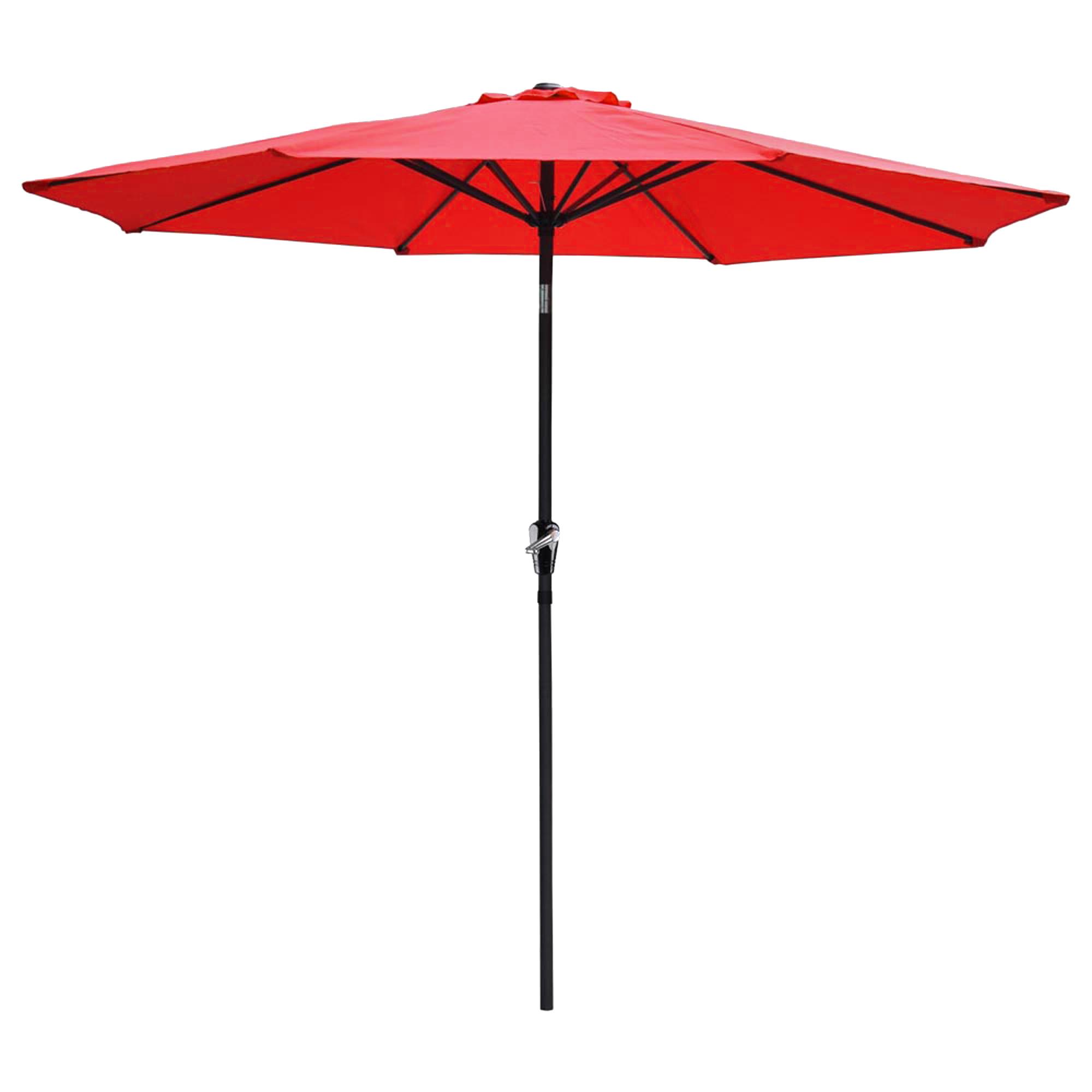 thumbnail 86 - 9' Outdoor Umbrella Patio 8 Ribs Market Garden Crank Tilt Beach Sunshade Parasol