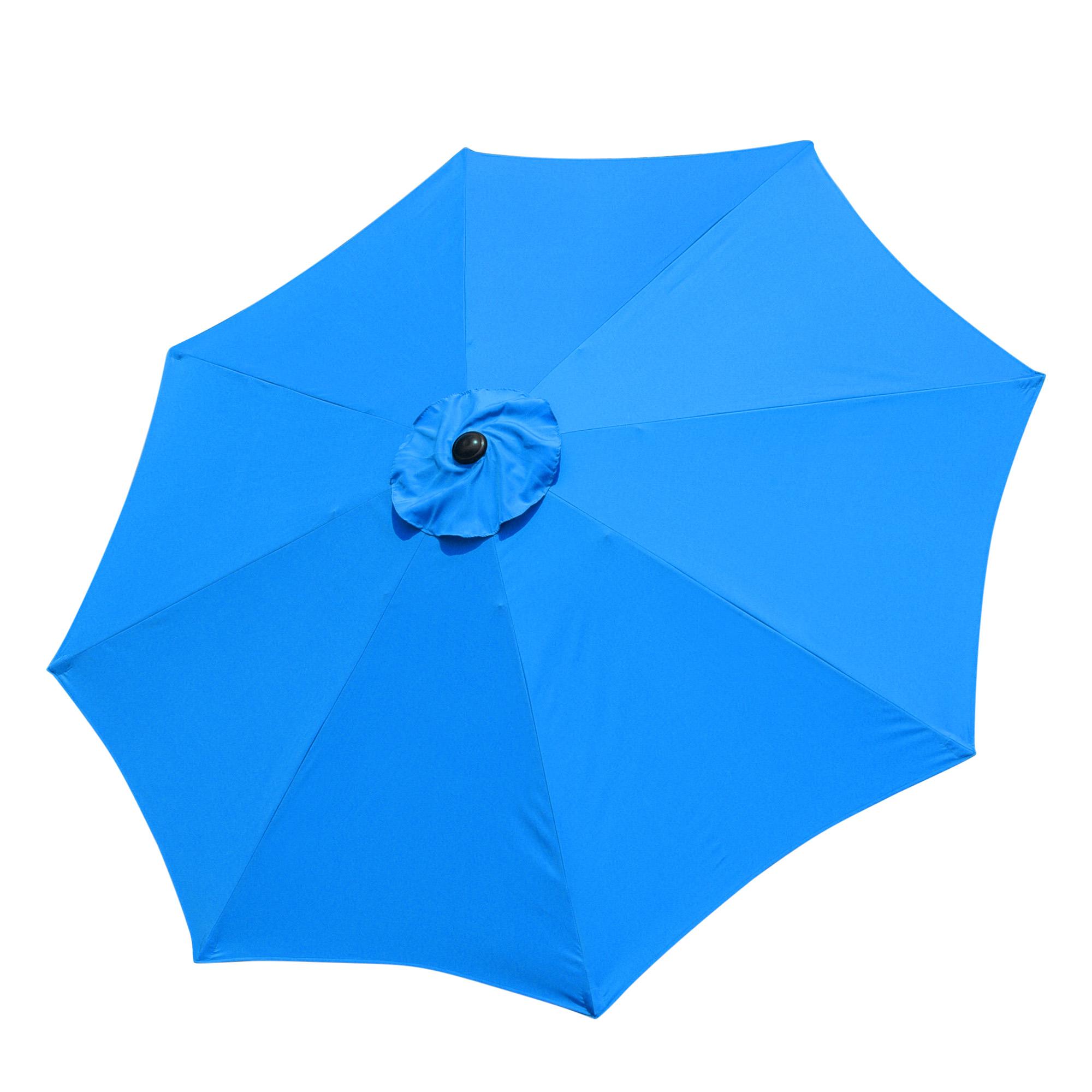 thumbnail 54 - 9' Outdoor Umbrella Patio 8 Ribs Market Garden Crank Tilt Beach Sunshade Parasol