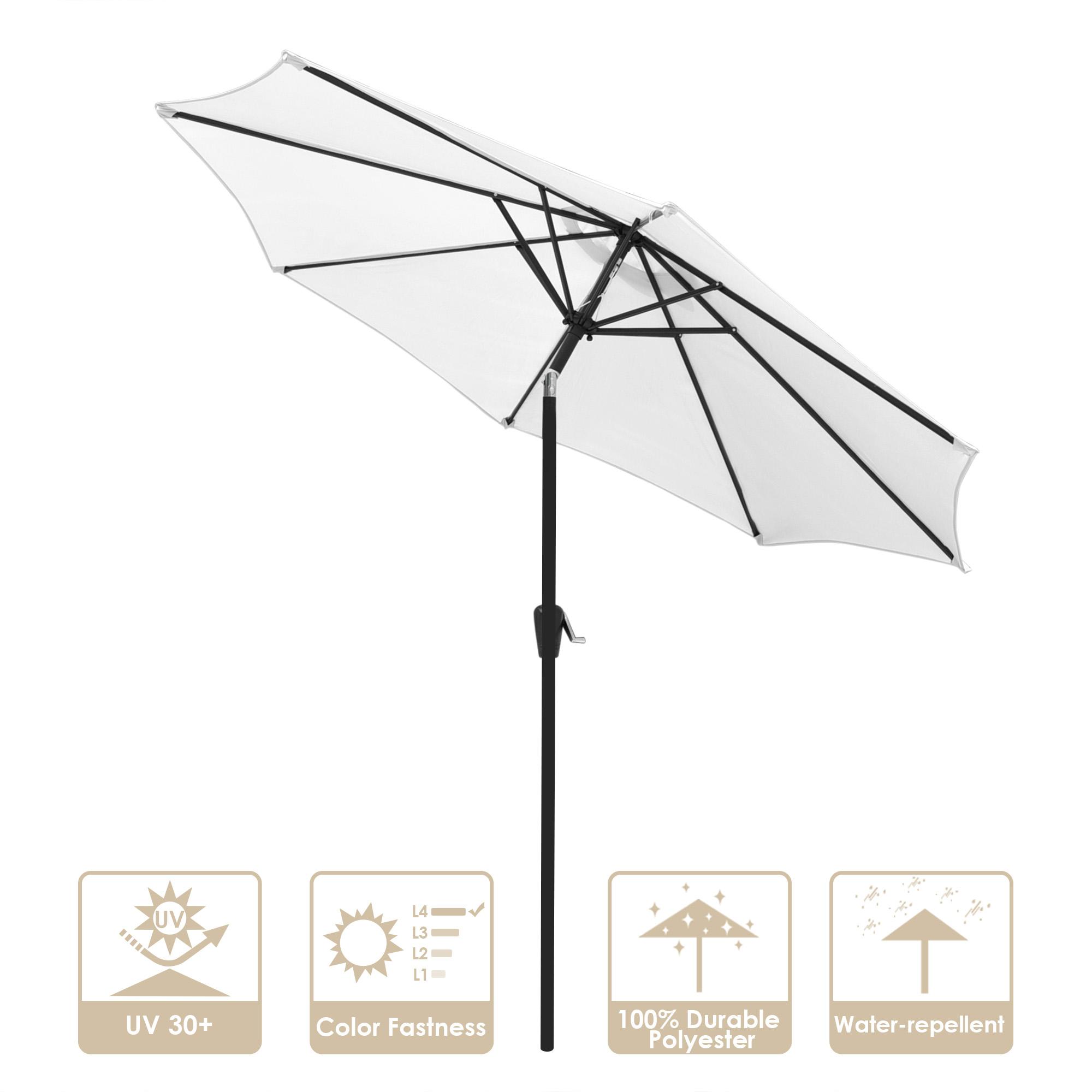 thumbnail 112 - 9' Outdoor Umbrella Patio 8 Ribs Market Garden Crank Tilt Beach Sunshade Parasol