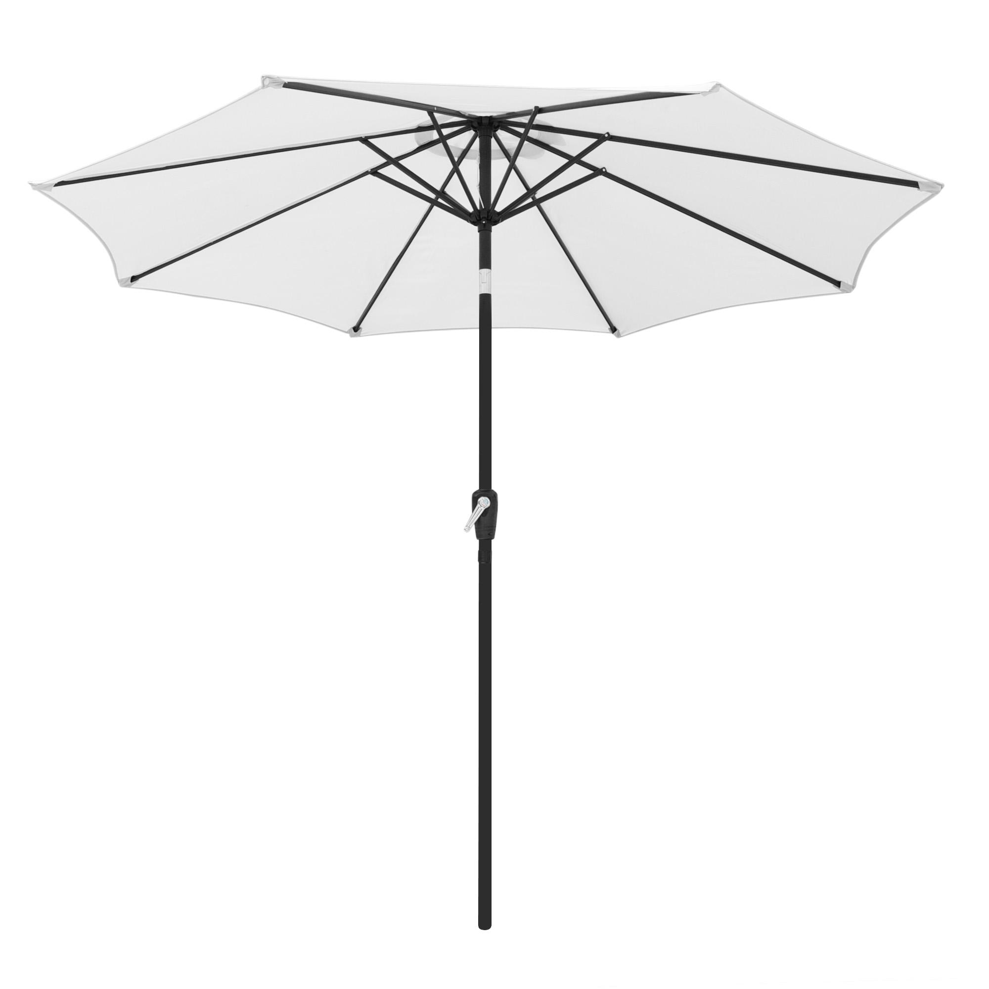 thumbnail 119 - 9' Outdoor Umbrella Patio 8 Ribs Market Garden Crank Tilt Beach Sunshade Parasol