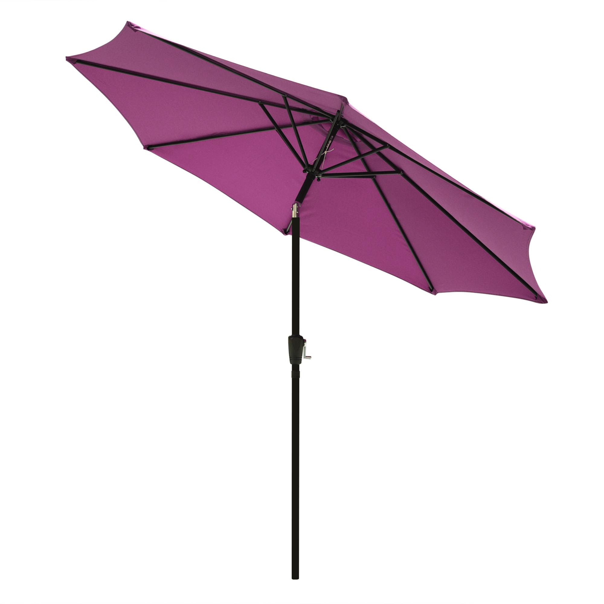 thumbnail 82 - 9' Outdoor Umbrella Patio 8 Ribs Market Garden Crank Tilt Beach Sunshade Parasol
