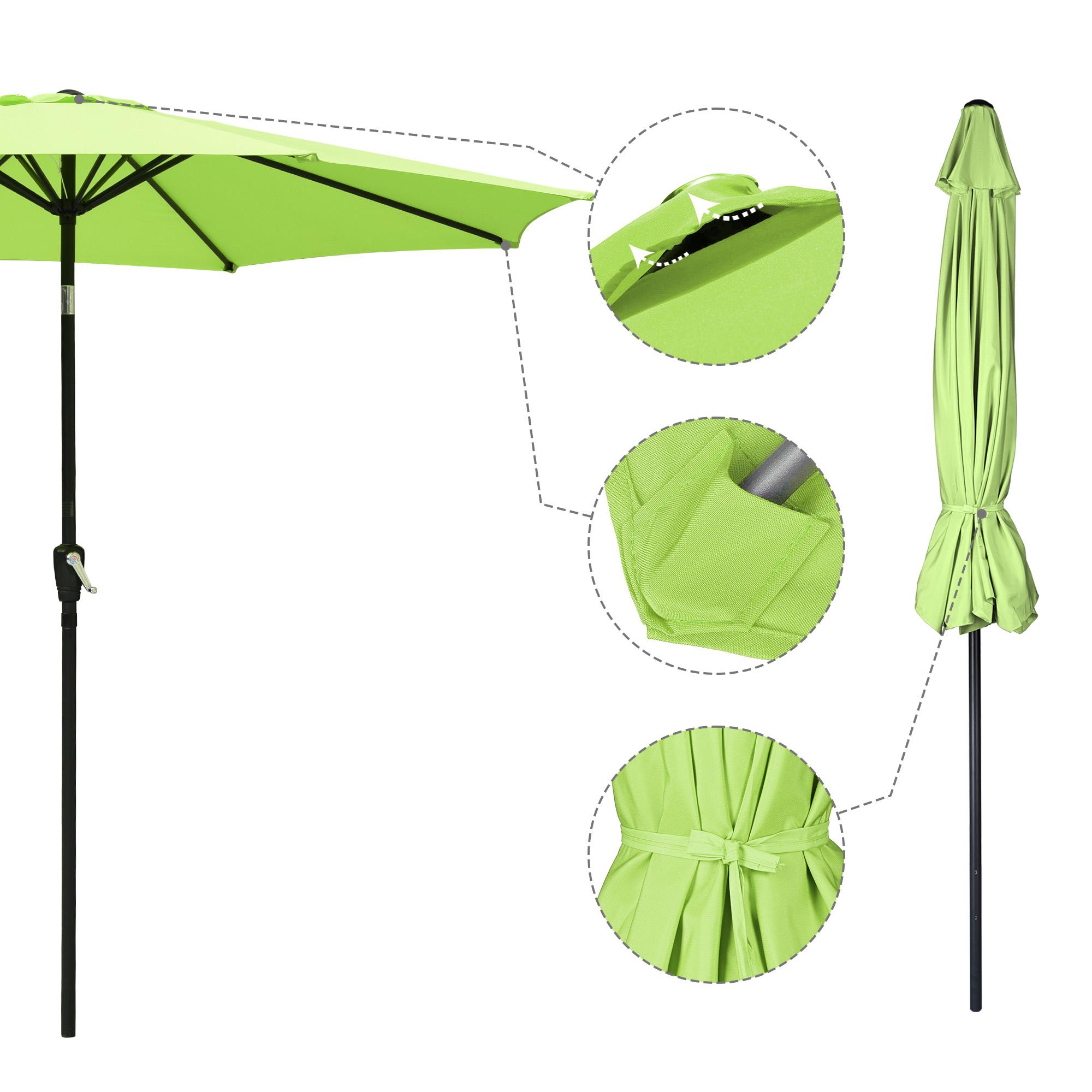 thumbnail 15 - 9' Outdoor Umbrella Patio 8 Ribs Market Garden Crank Tilt Beach Sunshade Parasol