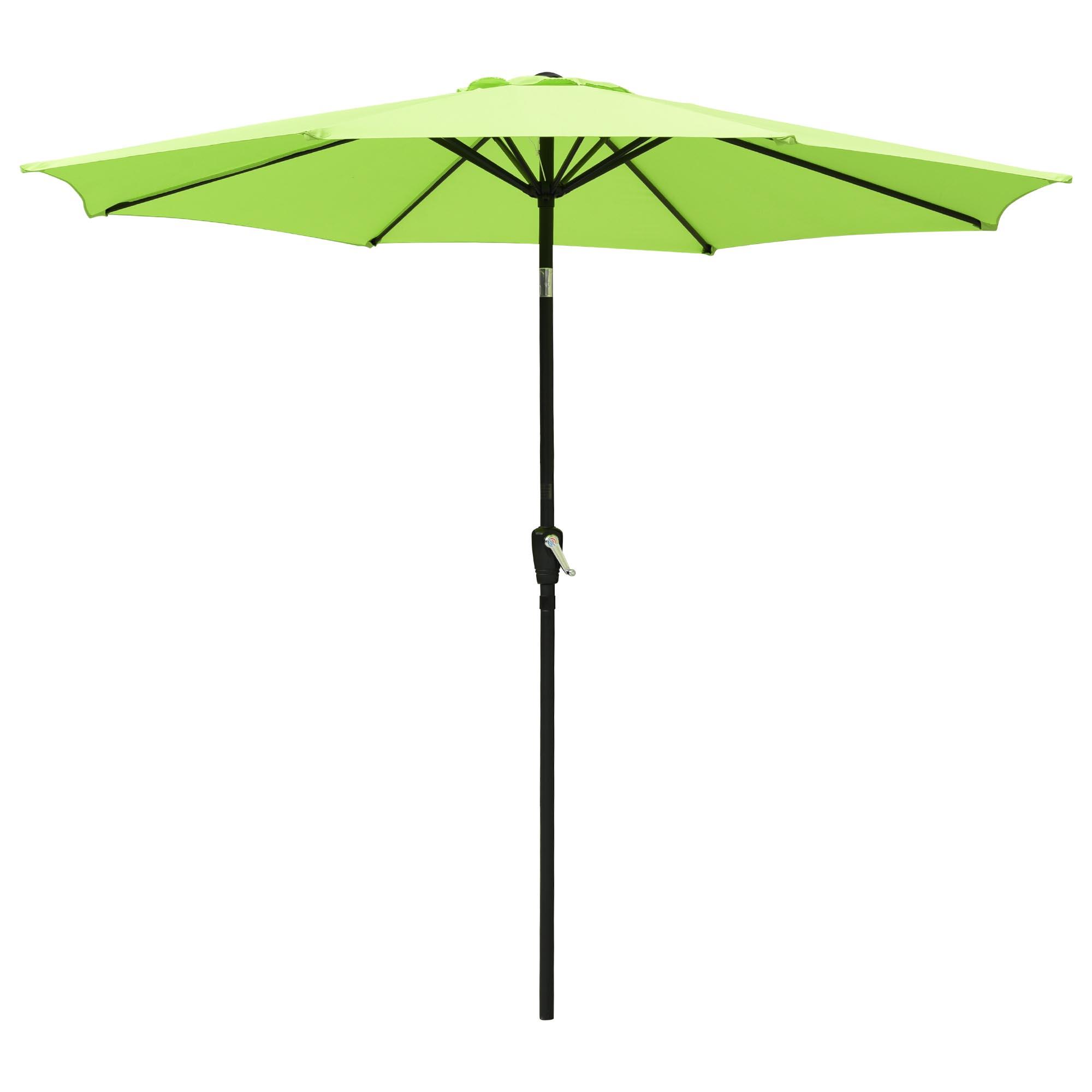 thumbnail 19 - 9' Outdoor Umbrella Patio 8 Ribs Market Garden Crank Tilt Beach Sunshade Parasol