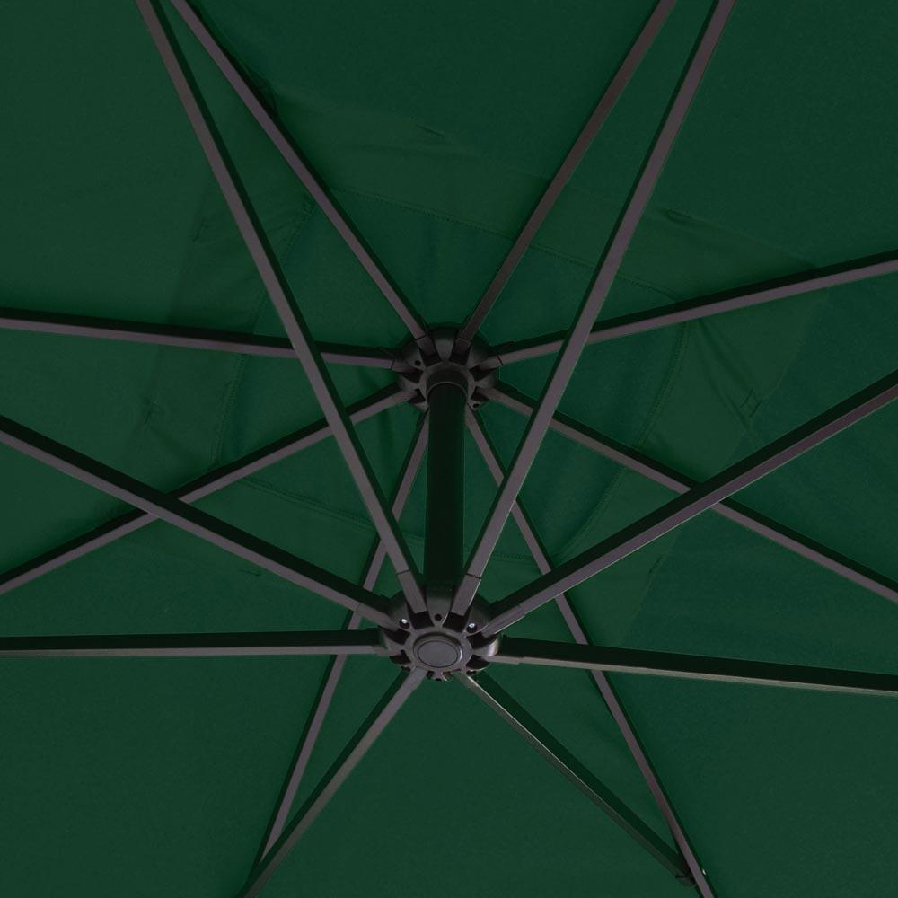 9x9 Deluxe Square Patio Offset Hanging Umbrella Gazebo