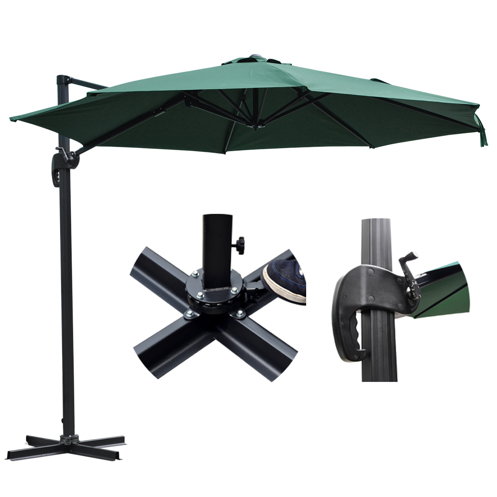 10 039 Deluxe Patio Hanging Roma Offset Umbrella