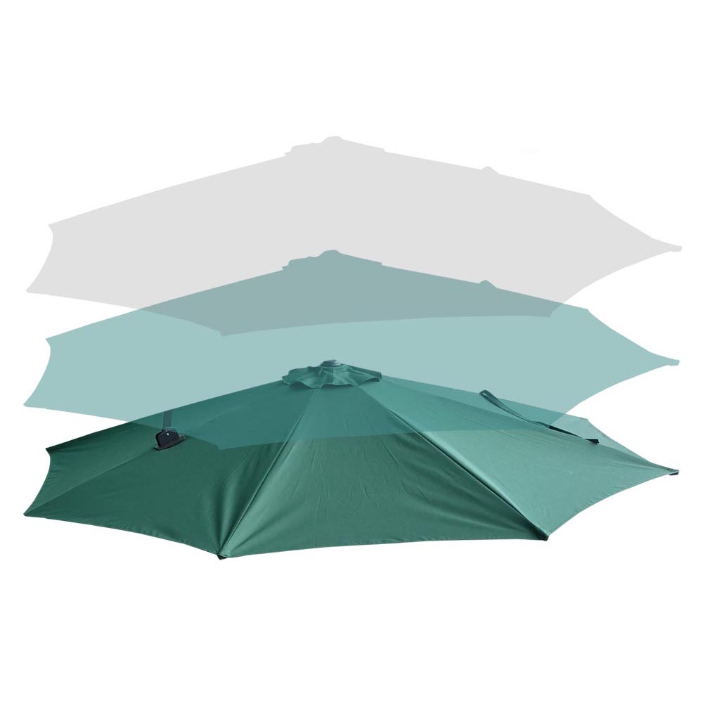 10 Roma Offset Patio Umbrella 8 Ribs 200g Sqm Outdoor