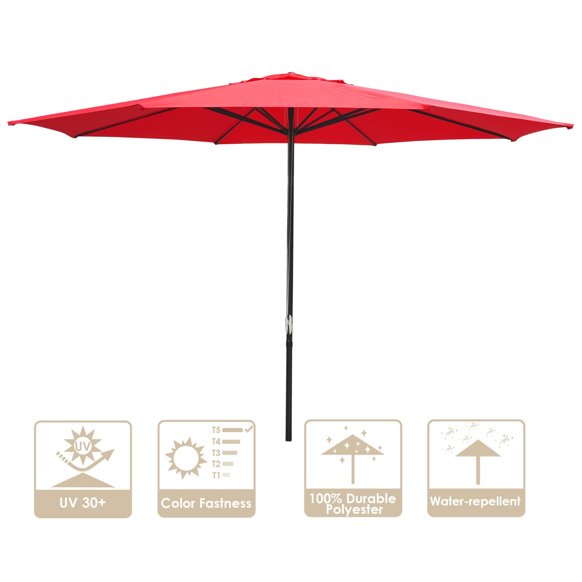 thumbnail 52 - 13' FT Sun Shade Patio Aluminum Umbrella UV30+ Outdoor Market Garden Beach Deck