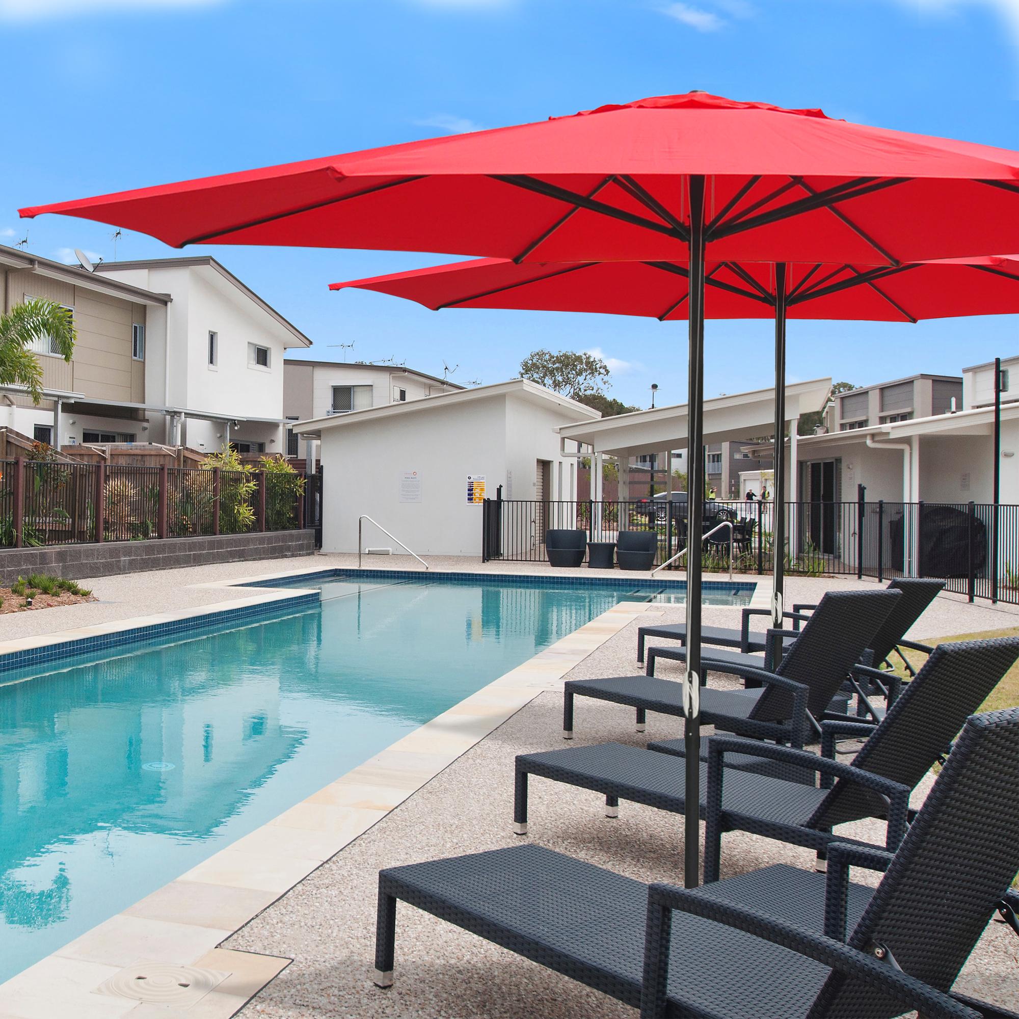 thumbnail 50 - 13' FT Sun Shade Patio Aluminum Umbrella UV30+ Outdoor Market Garden Beach Deck