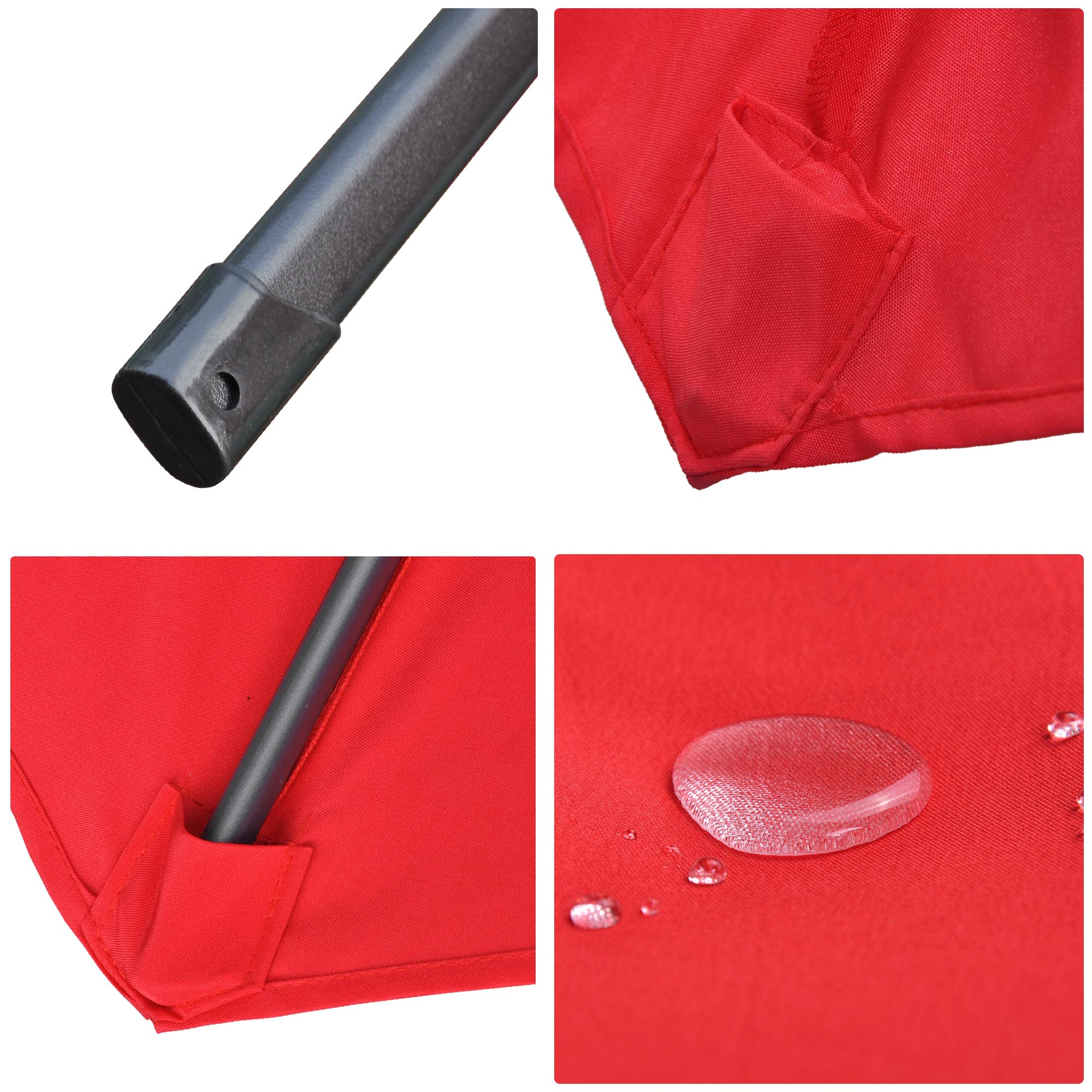 thumbnail 57 - 13' FT Sun Shade Patio Aluminum Umbrella UV30+ Outdoor Market Garden Beach Deck