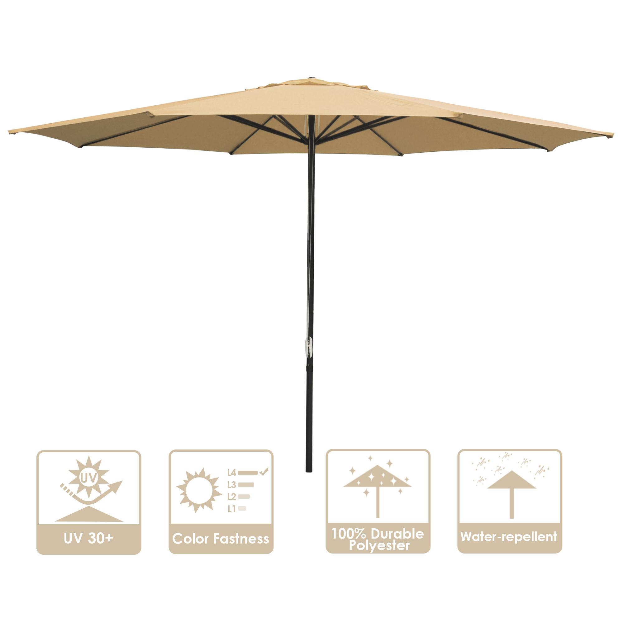 thumbnail 63 - 13' FT Sun Shade Patio Aluminum Umbrella UV30+ Outdoor Market Garden Beach Deck