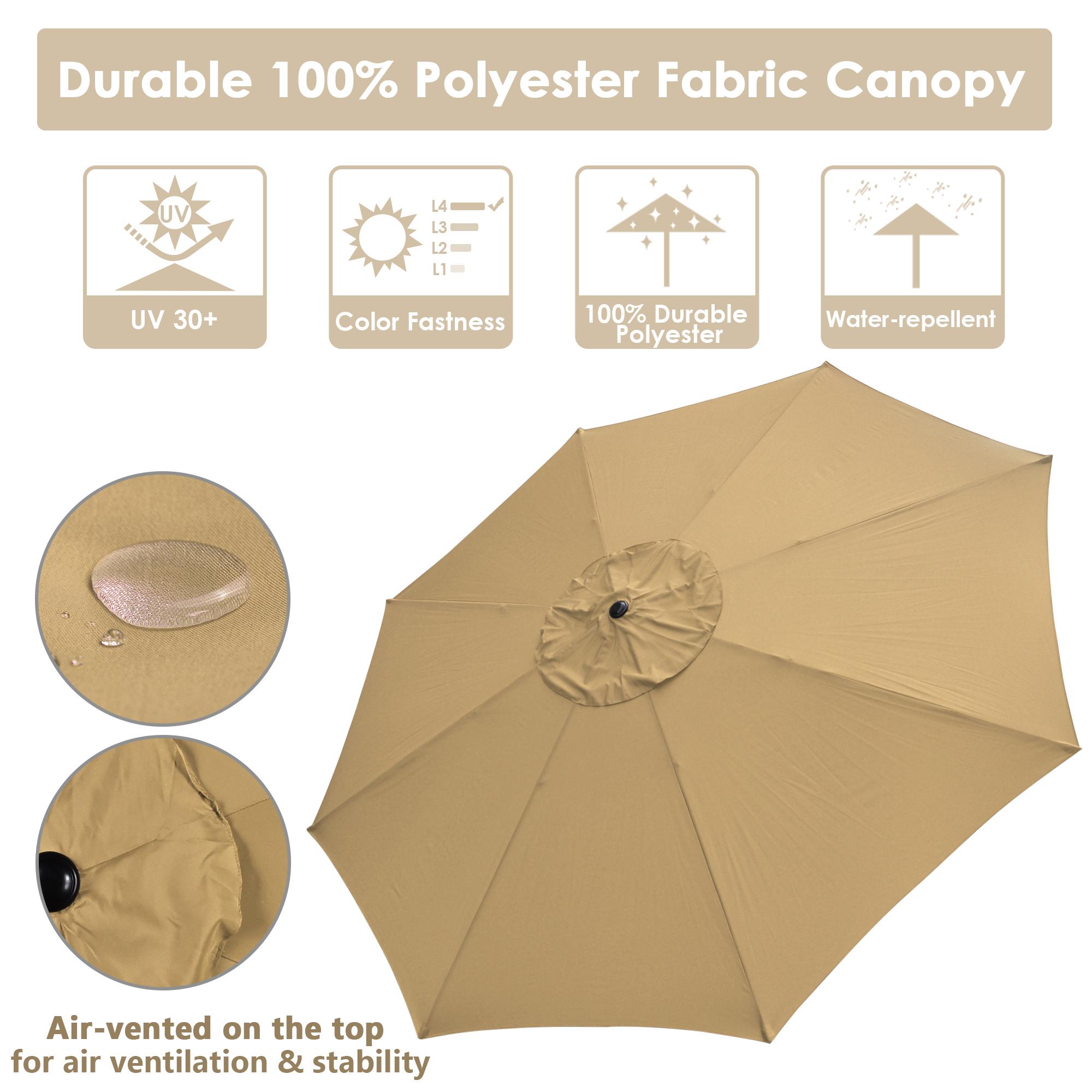 thumbnail 64 - 13' FT Sun Shade Patio Aluminum Umbrella UV30+ Outdoor Market Garden Beach Deck