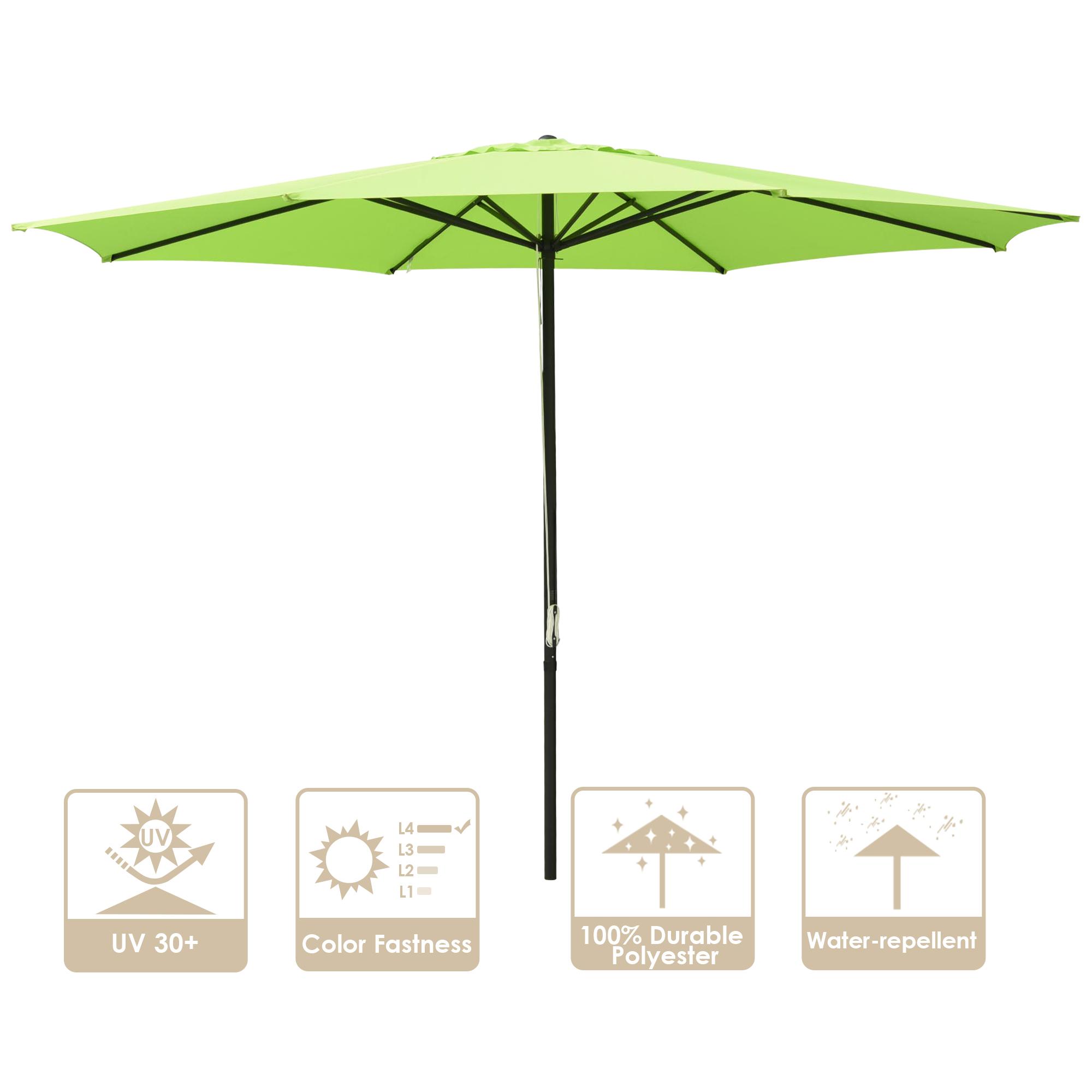 thumbnail 15 - 13' FT Sun Shade Patio Aluminum Umbrella UV30+ Outdoor Market Garden Beach Deck