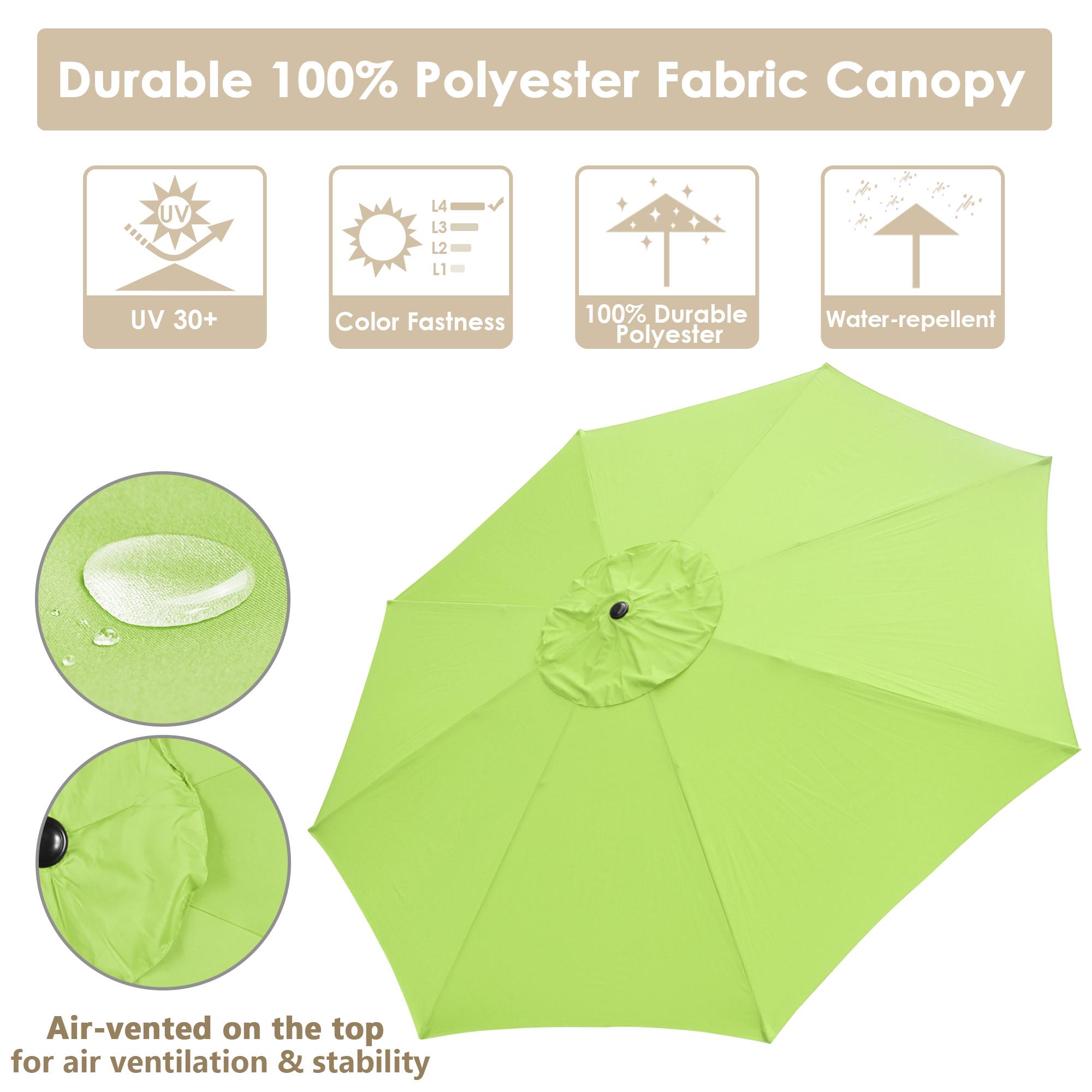 thumbnail 16 - 13' FT Sun Shade Patio Aluminum Umbrella UV30+ Outdoor Market Garden Beach Deck