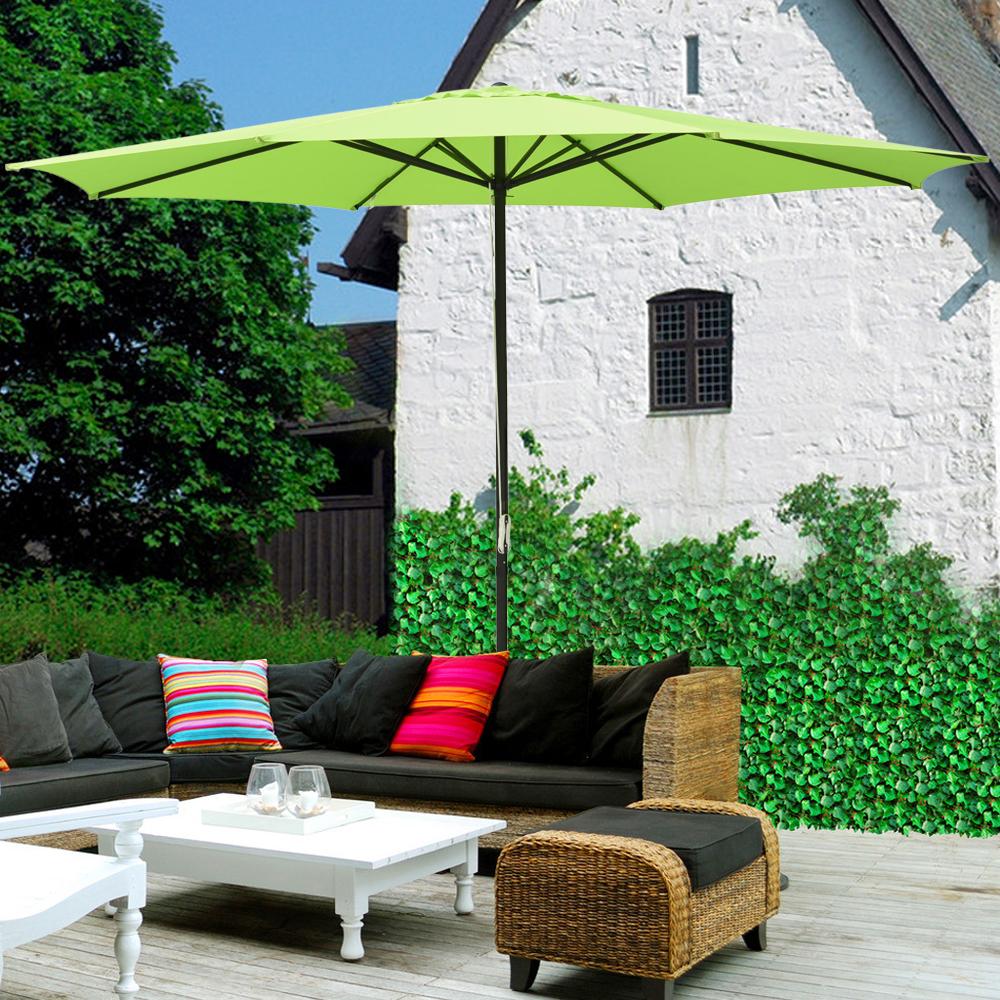 thumbnail 12 - 13' FT Sun Shade Patio Aluminum Umbrella UV30+ Outdoor Market Garden Beach Deck