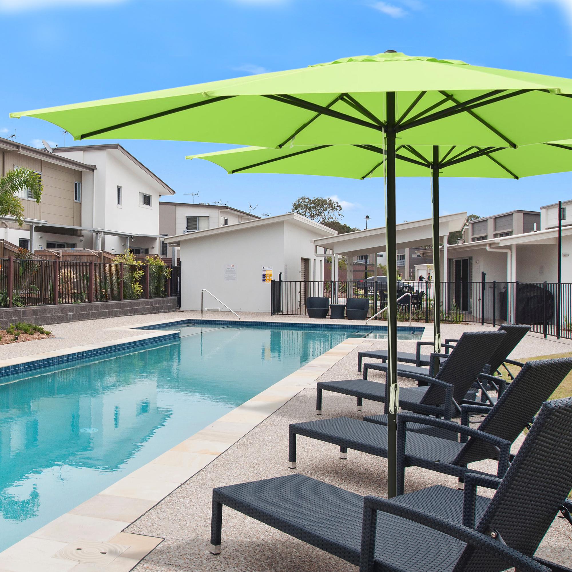 thumbnail 14 - 13' FT Sun Shade Patio Aluminum Umbrella UV30+ Outdoor Market Garden Beach Deck