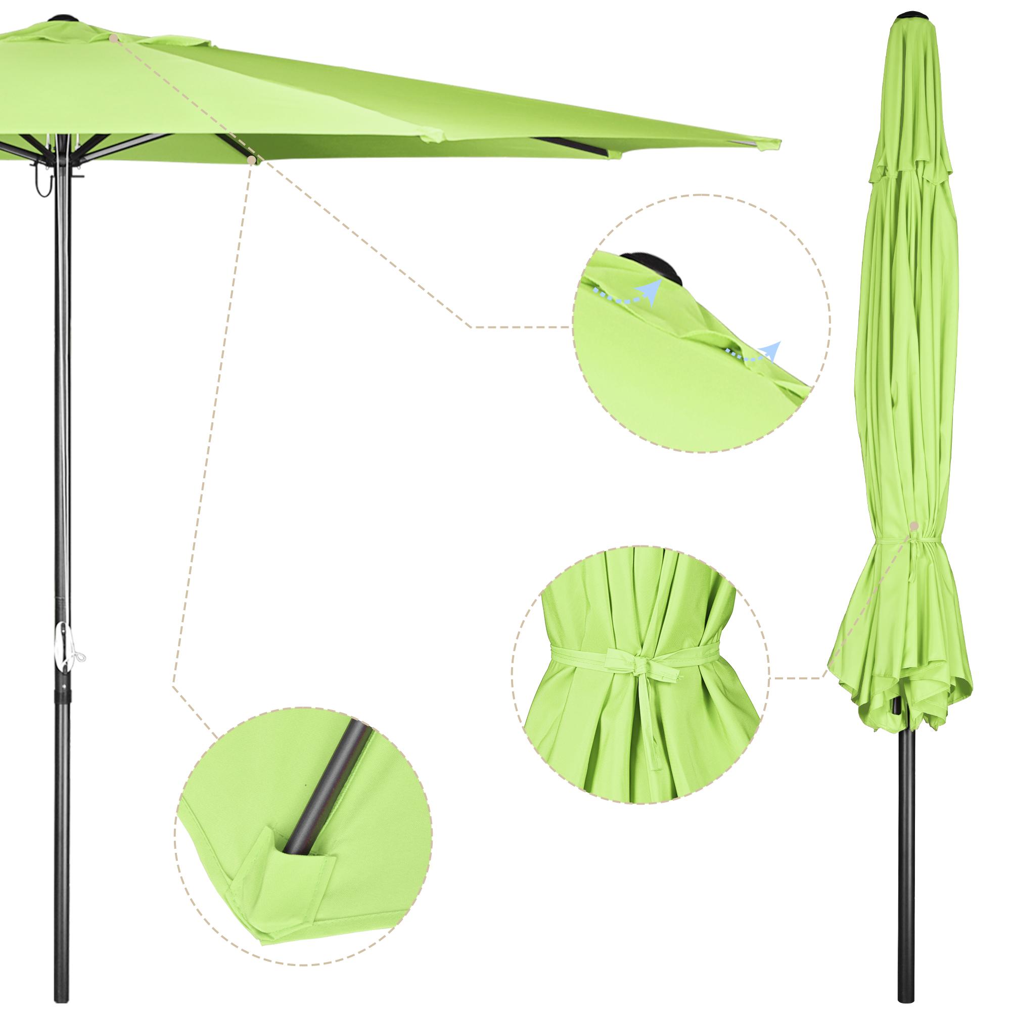 thumbnail 19 - 13' FT Sun Shade Patio Aluminum Umbrella UV30+ Outdoor Market Garden Beach Deck