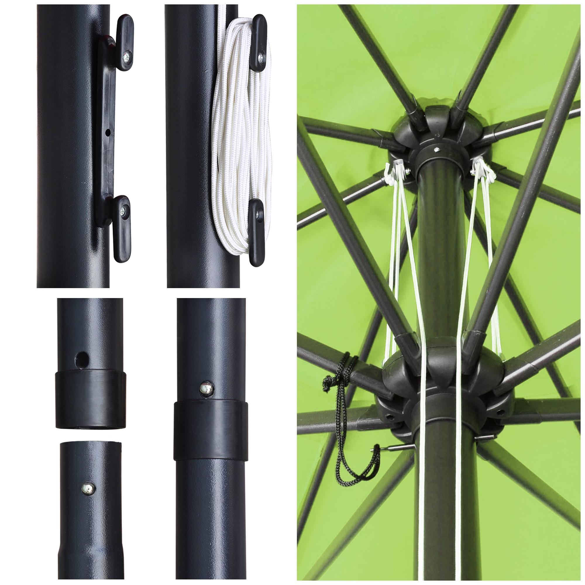 thumbnail 20 - 13' FT Sun Shade Patio Aluminum Umbrella UV30+ Outdoor Market Garden Beach Deck
