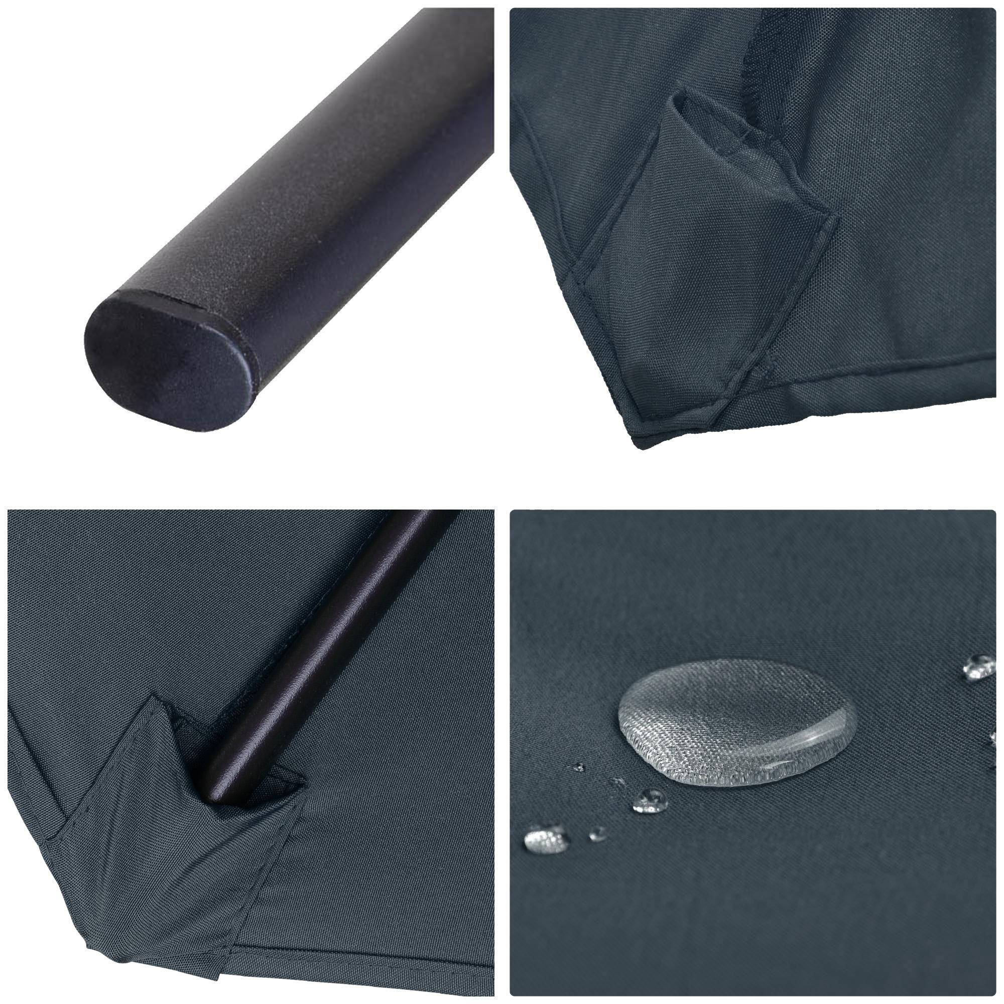 thumbnail 35 - 15ft Patio Twin Umbrella Double-sided Market Crank Outdoor Garden Parasol Shade