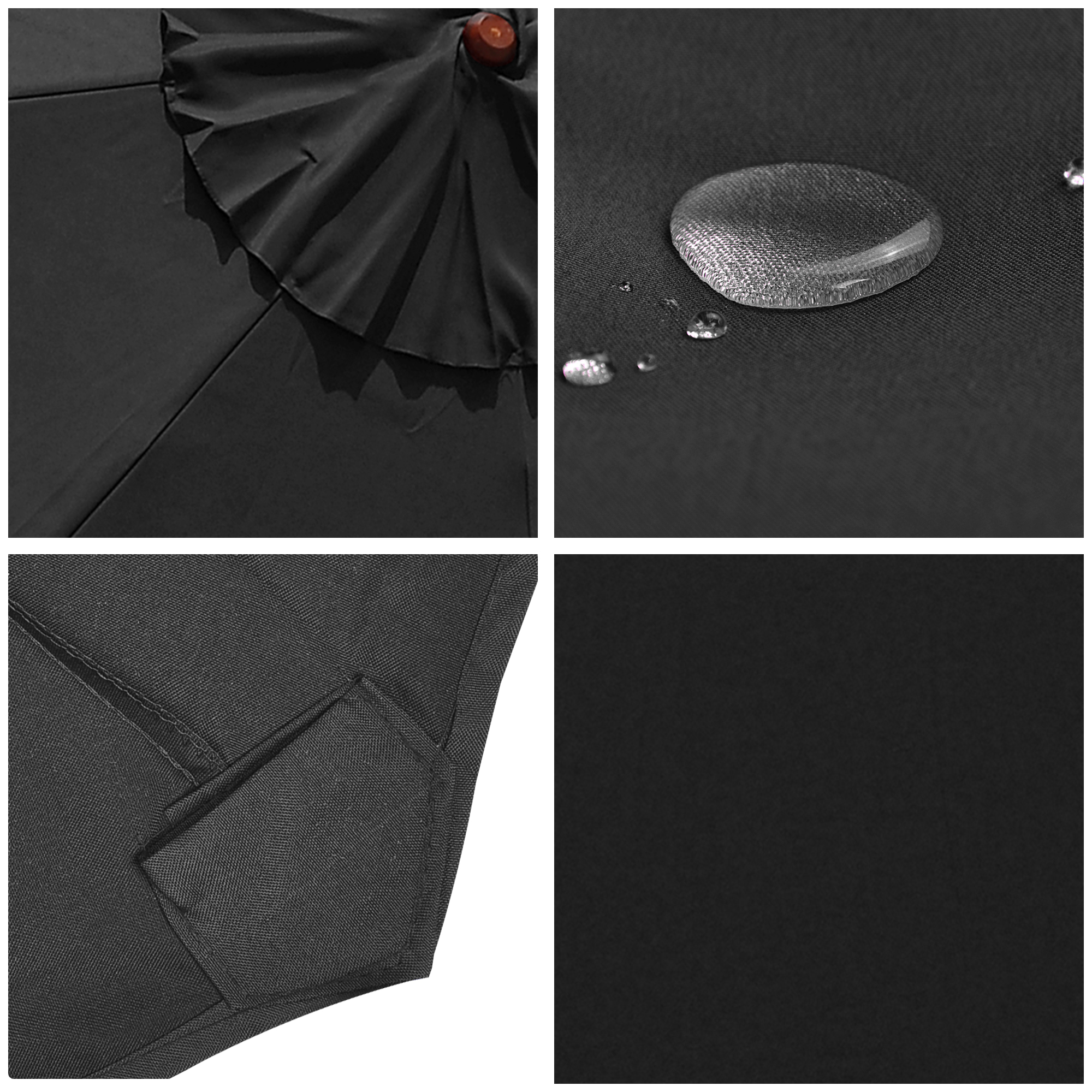 thumbnail 19 - 8'/9'/10'/13' Umbrella Replacement Canopy 8 Rib Outdoor Patio Top Cover Only Opt