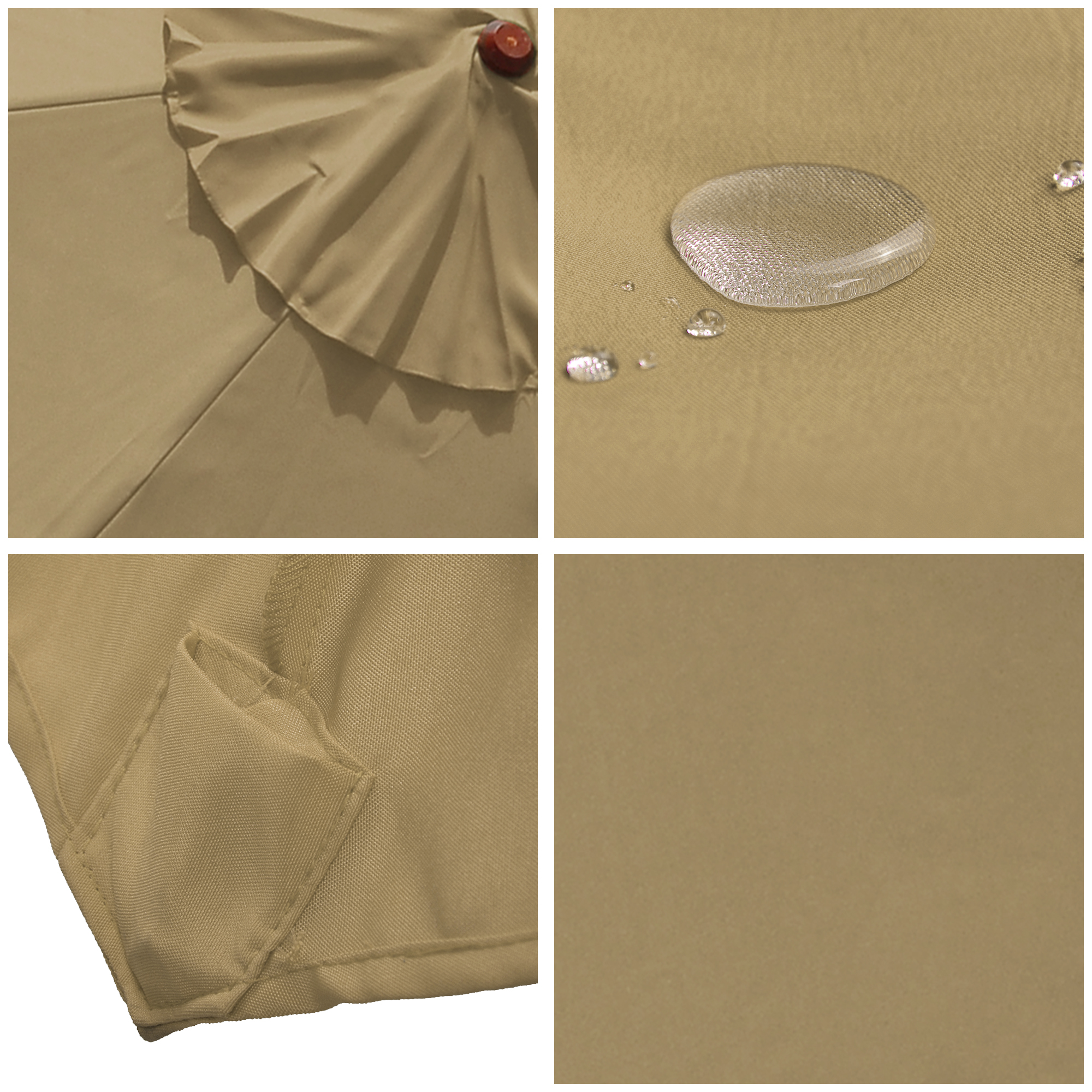 thumbnail 37 - 8'/9'/10'/13' Umbrella Replacement Canopy 8 Rib Outdoor Patio Top Cover Only Opt