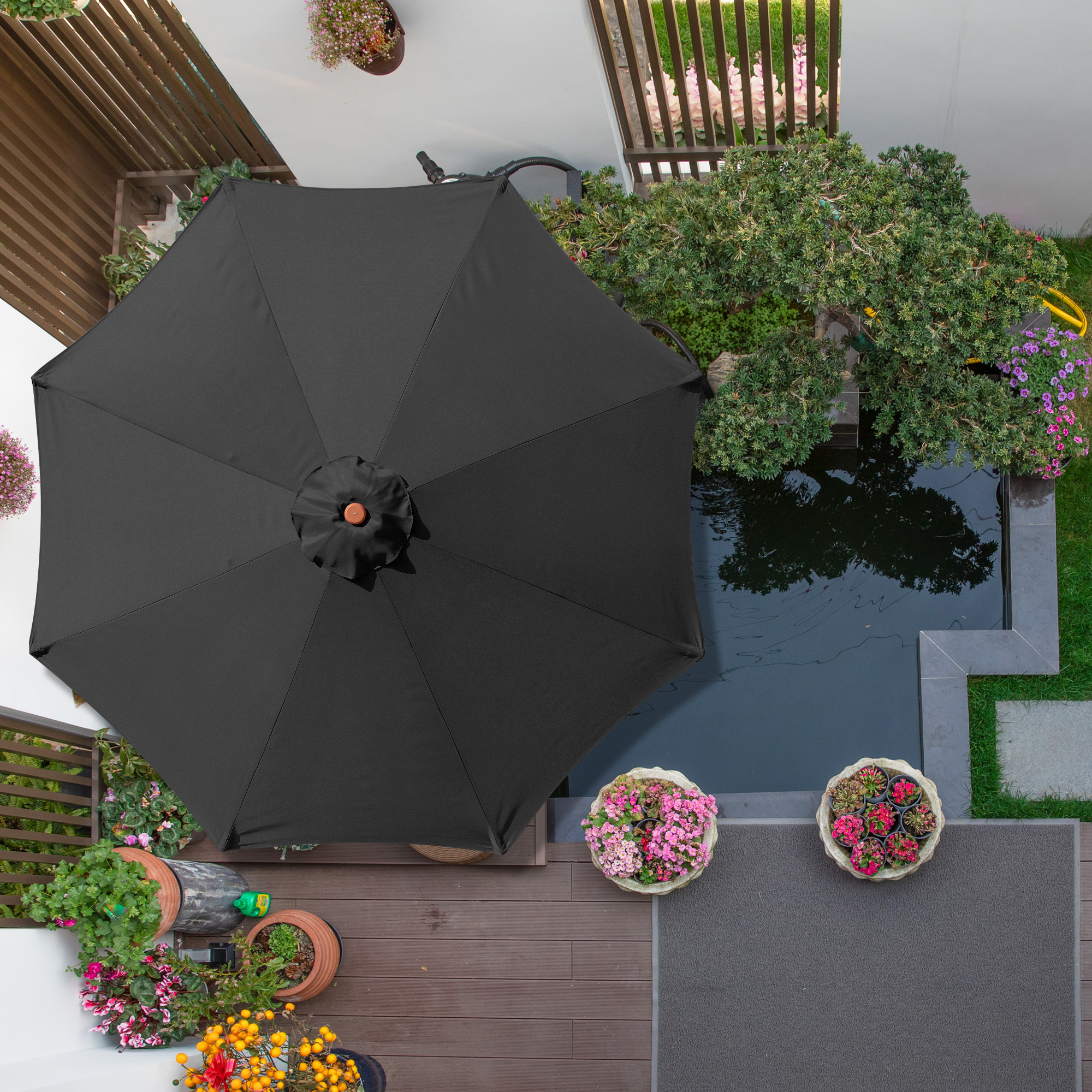 thumbnail 338 - 8'/9'/10'/13' Umbrella Replacement Canopy 8 Rib Outdoor Patio Top Cover Only Opt
