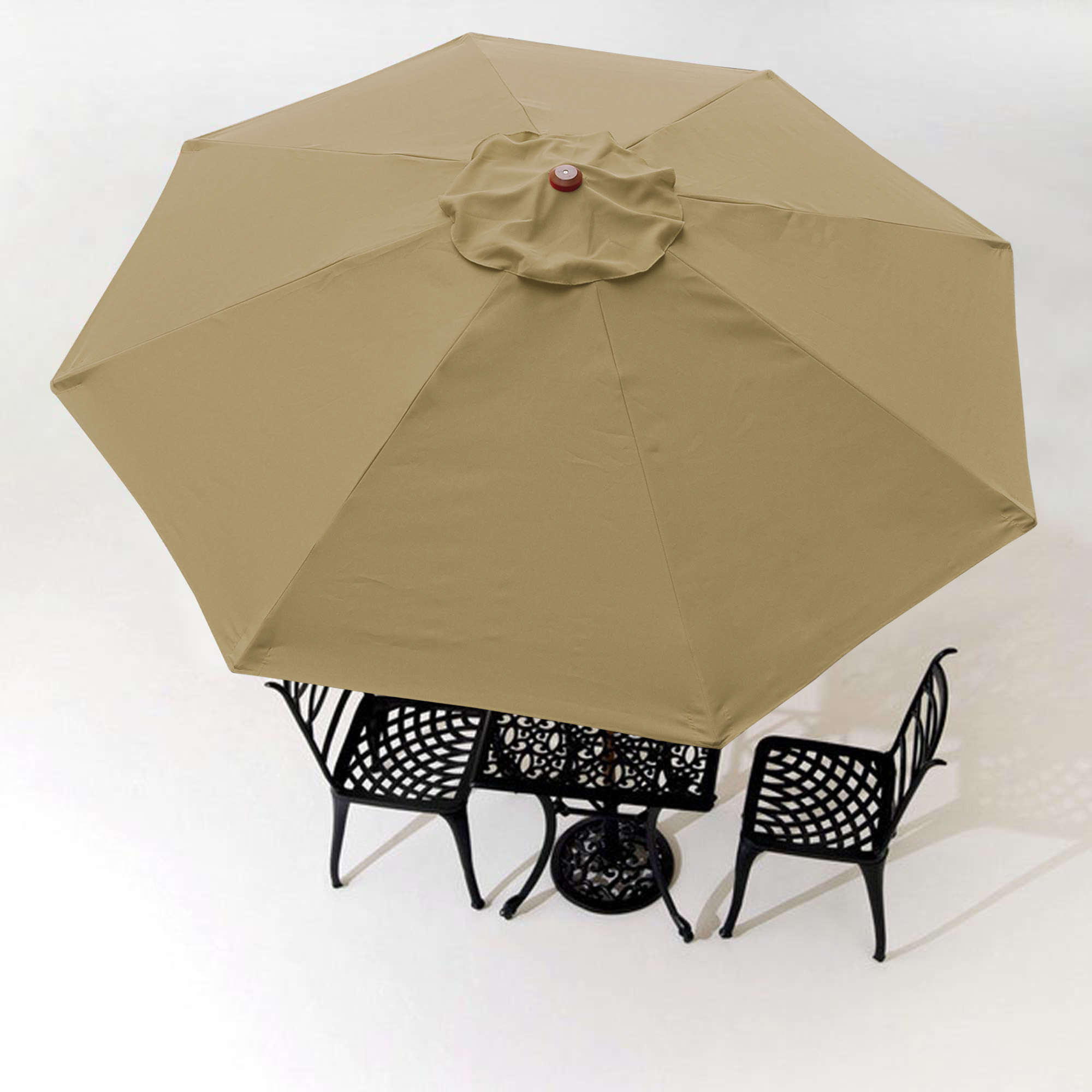 thumbnail 451 - 8'/9'/10'/13' Umbrella Replacement Canopy 8 Rib Outdoor Patio Top Cover Only Opt