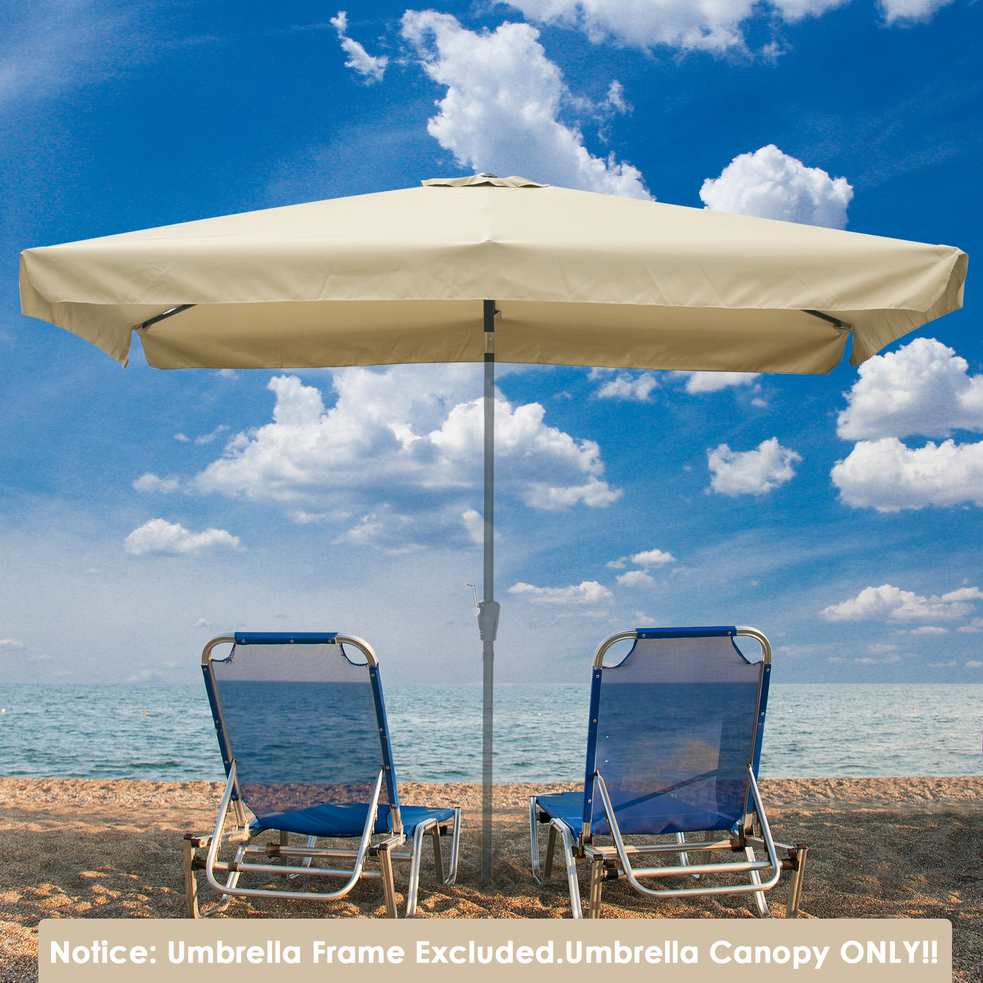 thumbnail 119 - 8'/9'/10'/13' Umbrella Replacement Canopy 8 Rib Outdoor Patio Top Cover Only Opt