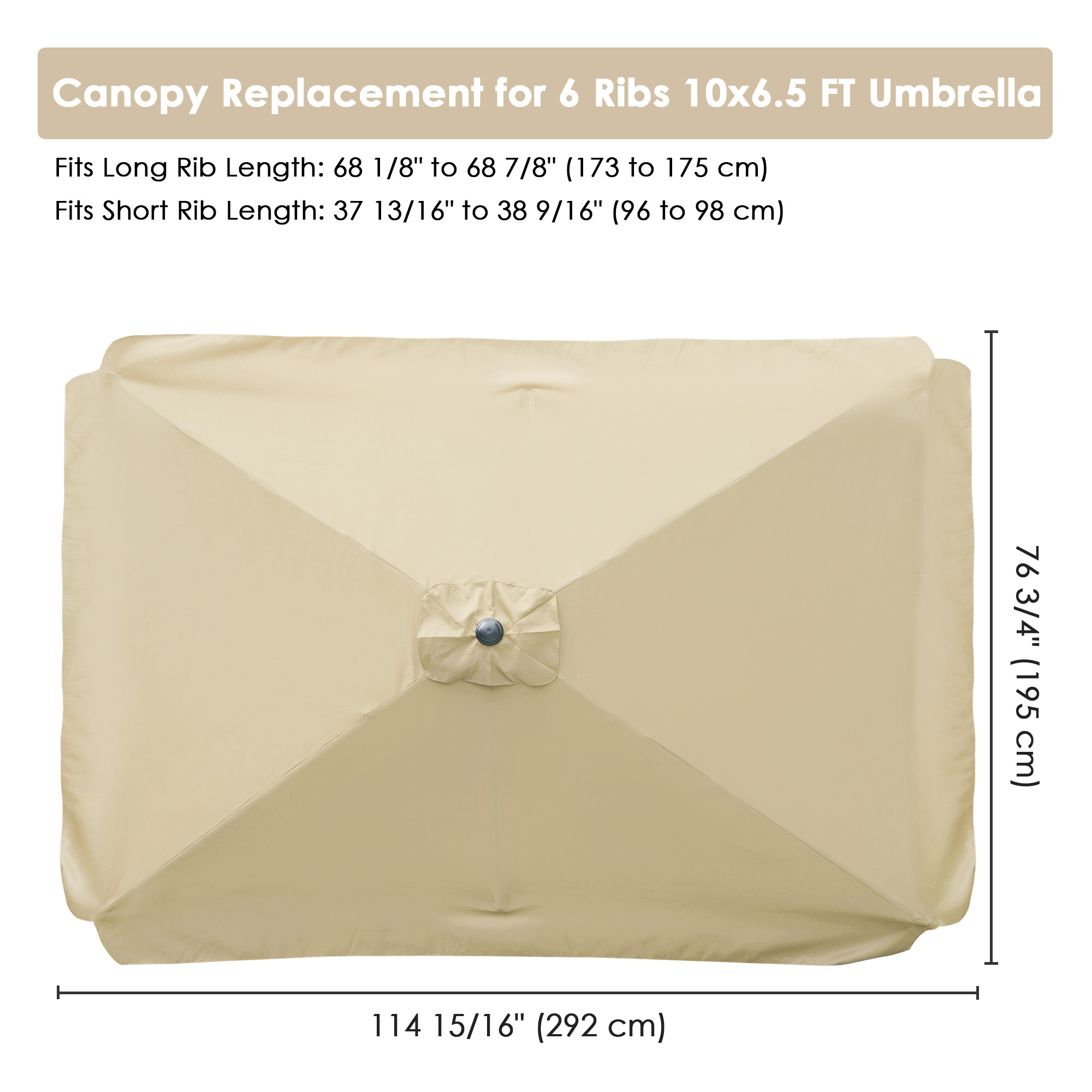 thumbnail 117 - 8'/9'/10'/13' Umbrella Replacement Canopy 8 Rib Outdoor Patio Top Cover Only Opt