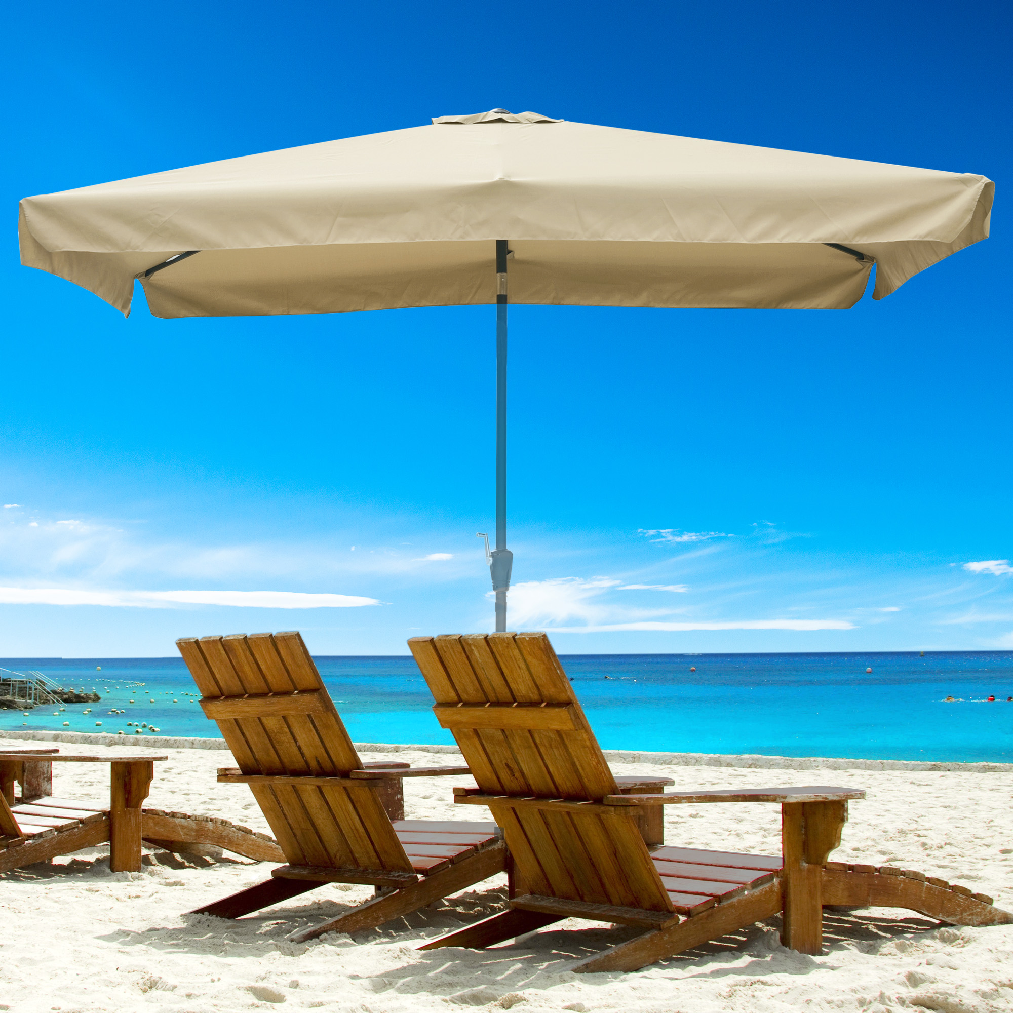 thumbnail 120 - 8'/9'/10'/13' Umbrella Replacement Canopy 8 Rib Outdoor Patio Top Cover Only Opt