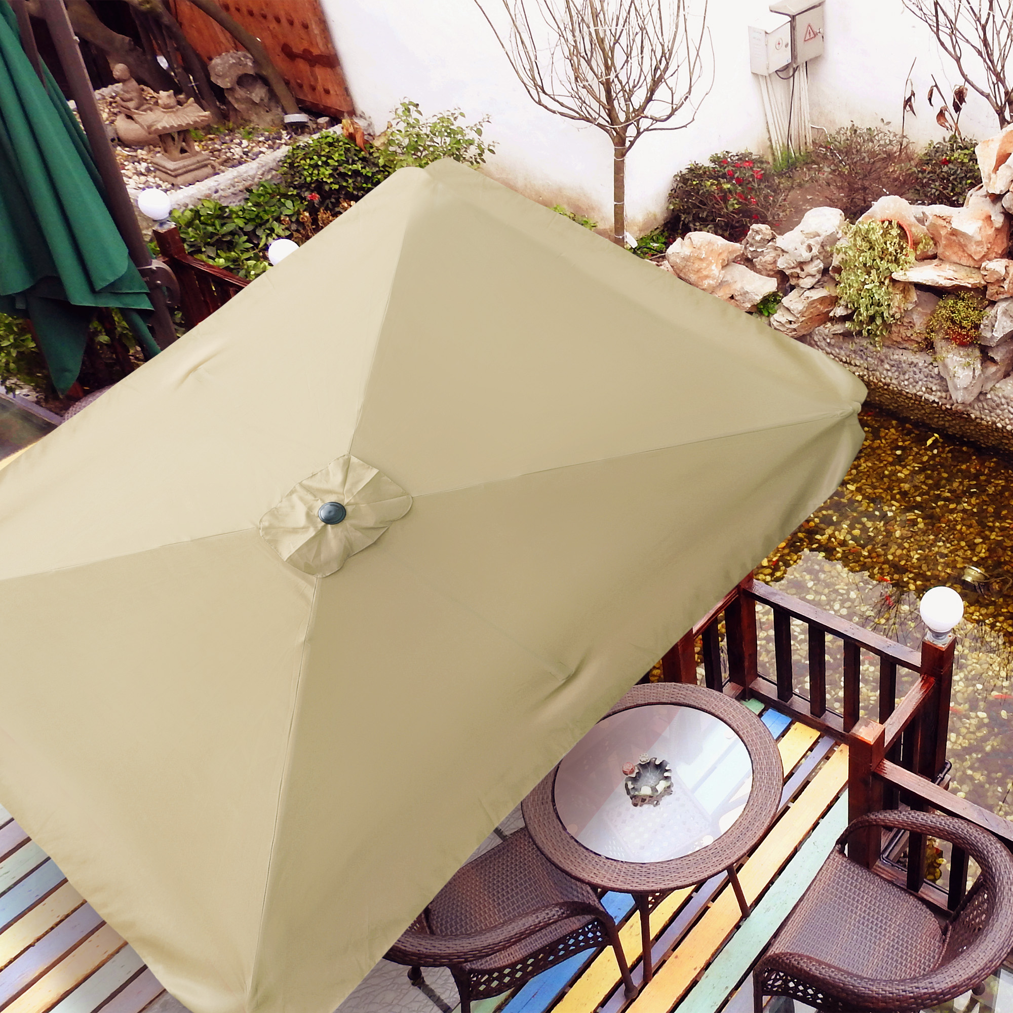 thumbnail 121 - 8'/9'/10'/13' Umbrella Replacement Canopy 8 Rib Outdoor Patio Top Cover Only Opt