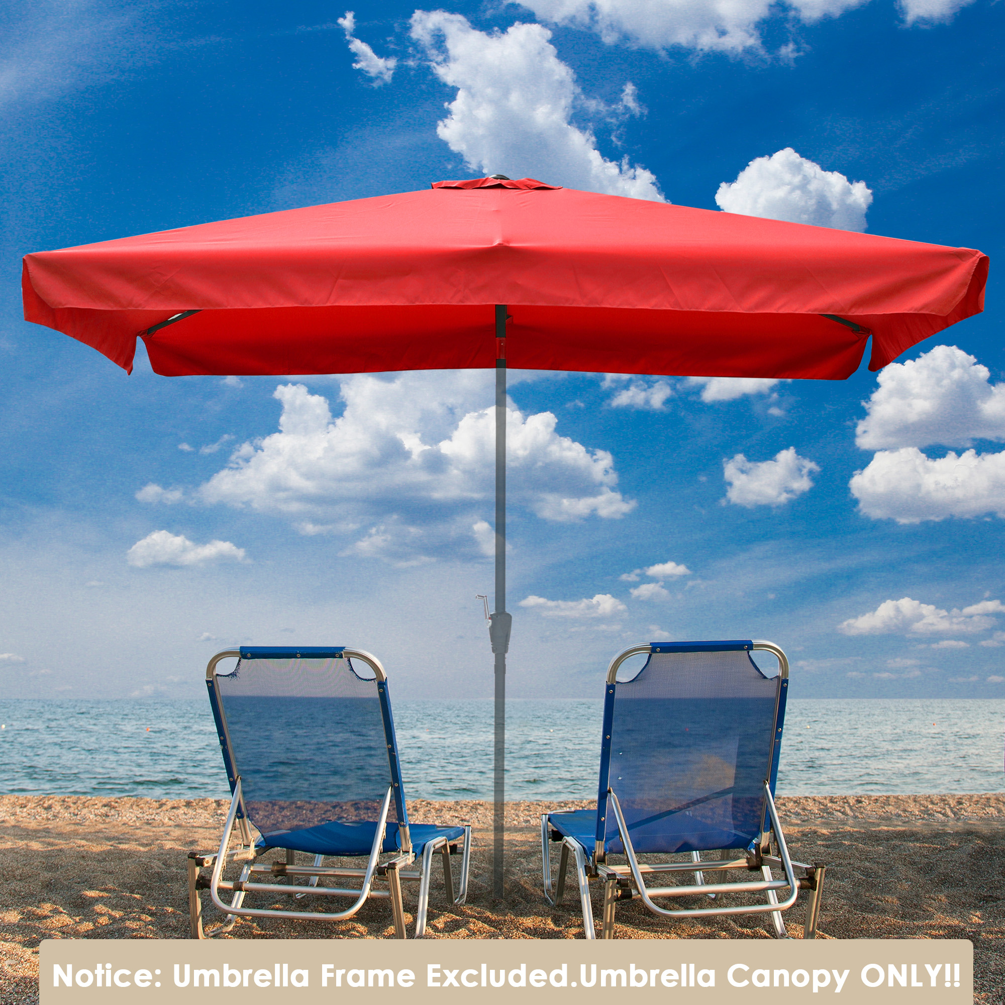 thumbnail 250 - 8'/9'/10'/13' Umbrella Replacement Canopy 8 Rib Outdoor Patio Top Cover Only Opt