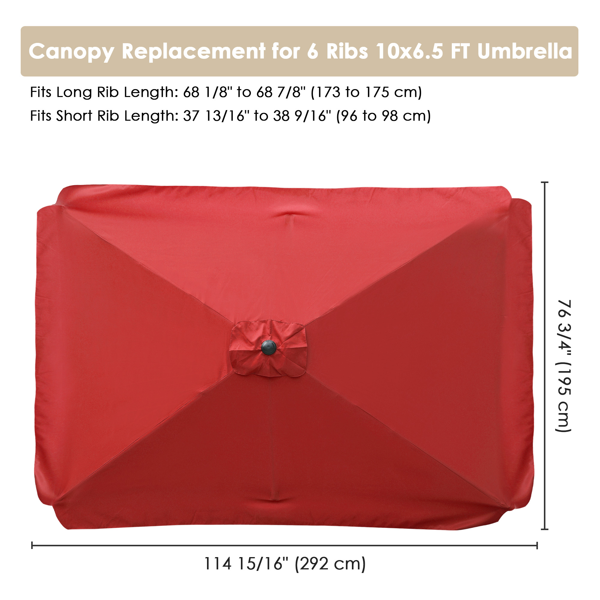 thumbnail 251 - 8'/9'/10'/13' Umbrella Replacement Canopy 8 Rib Outdoor Patio Top Cover Only Opt